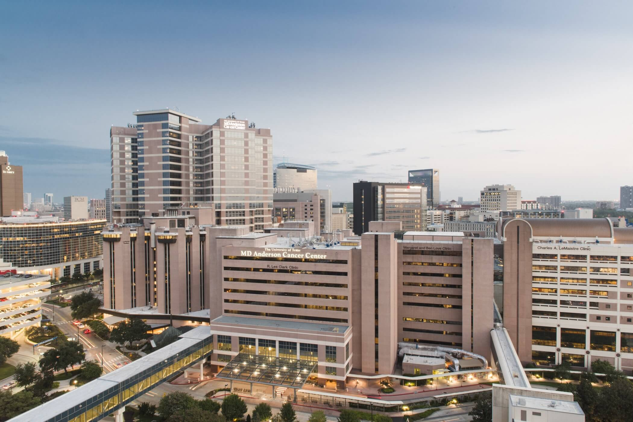 Houston Medical Center and MD Anderson sunrise photography