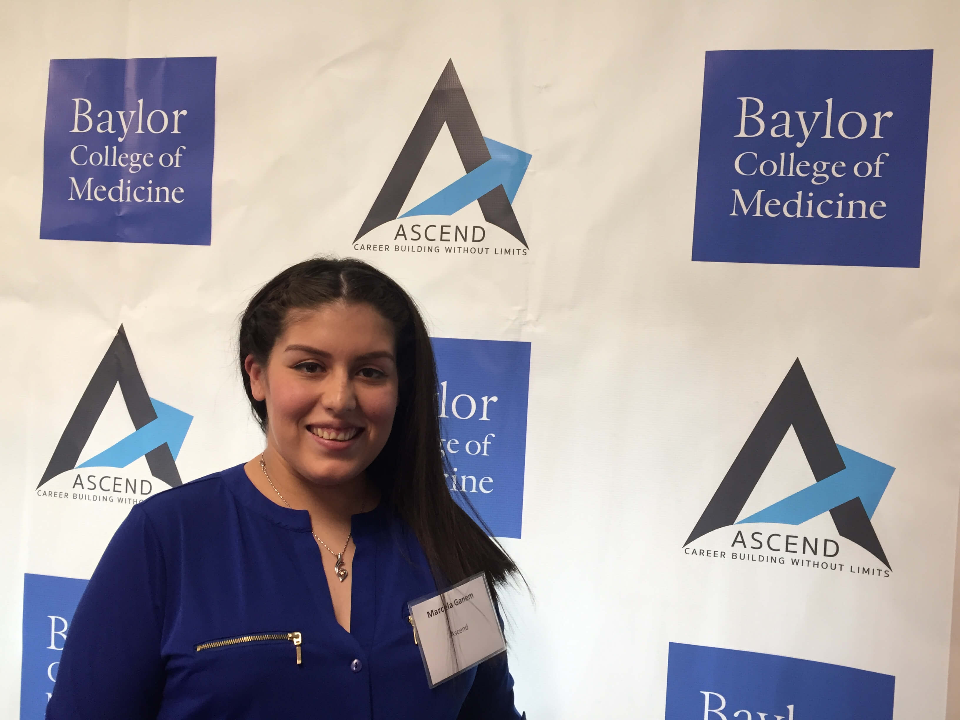 Marcela Ganem, 23, is receiving mentoring and support from the Baylor College of Medicine Teen Health Clinic's Ascend project to attain education and training for a career in nursing.