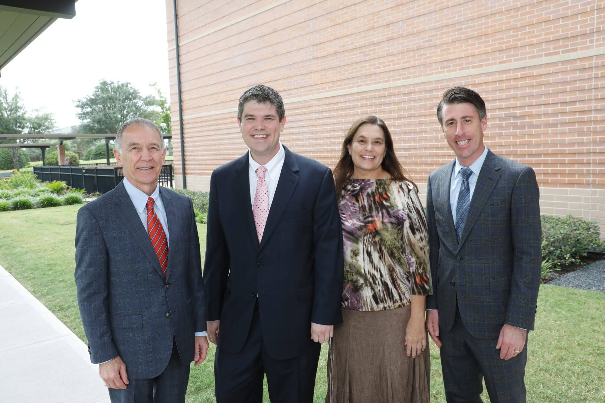 Dr. C. Edward Coffey, president and CEO of The Menninger Clinic; Evan Weinberger, son of Robert Weinberger, Ph.D.; Lennie Weinberger, wife of Robert Weinberger, Ph.D.; and Dr. Jonathan Stevens, Menninger's chief of outpatient services. (Photo credit: Craig Hartley)