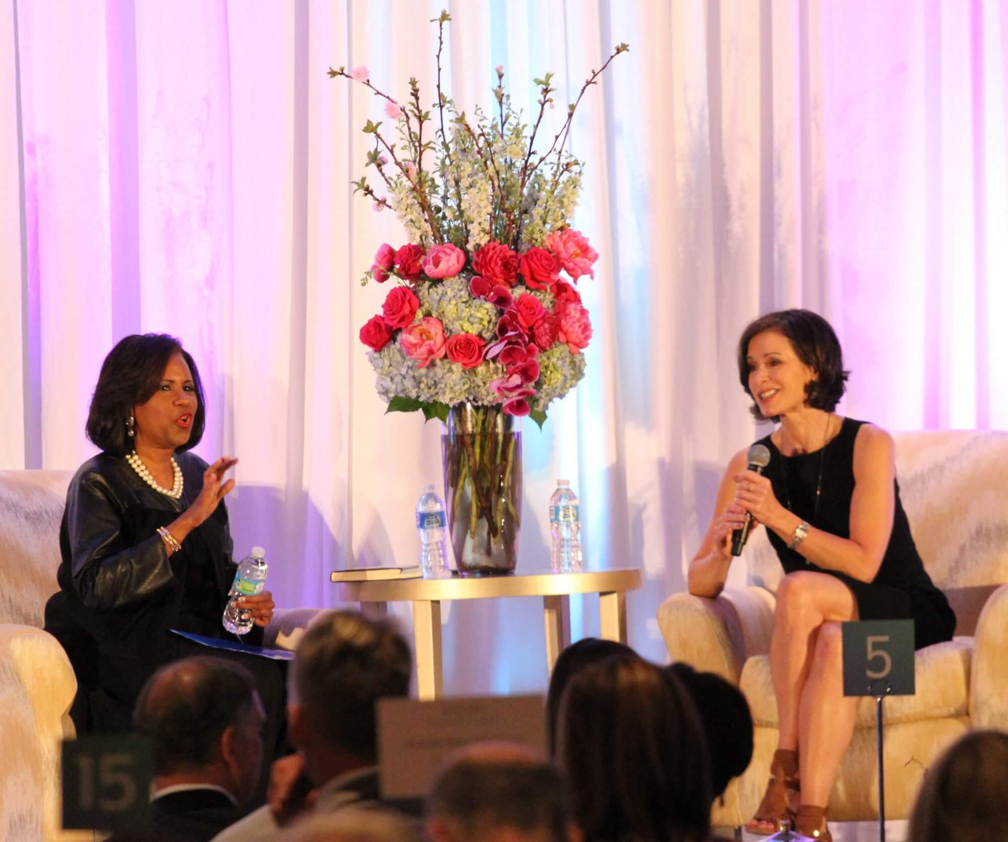 ABC 13 news anchor Melanie Lawson interviews award-winning correspondent and anchor Elizabeth Vargas, currently co-anchor of ABC's 20/20. (Photo Credit: Jenny Antill)