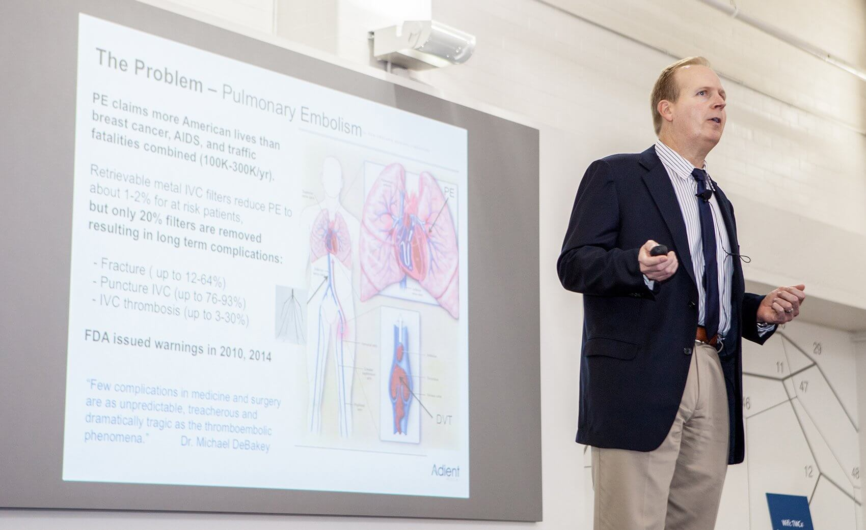 Mitch Eggers, Ph.D., president and chief executive officer of Adient Medical.
