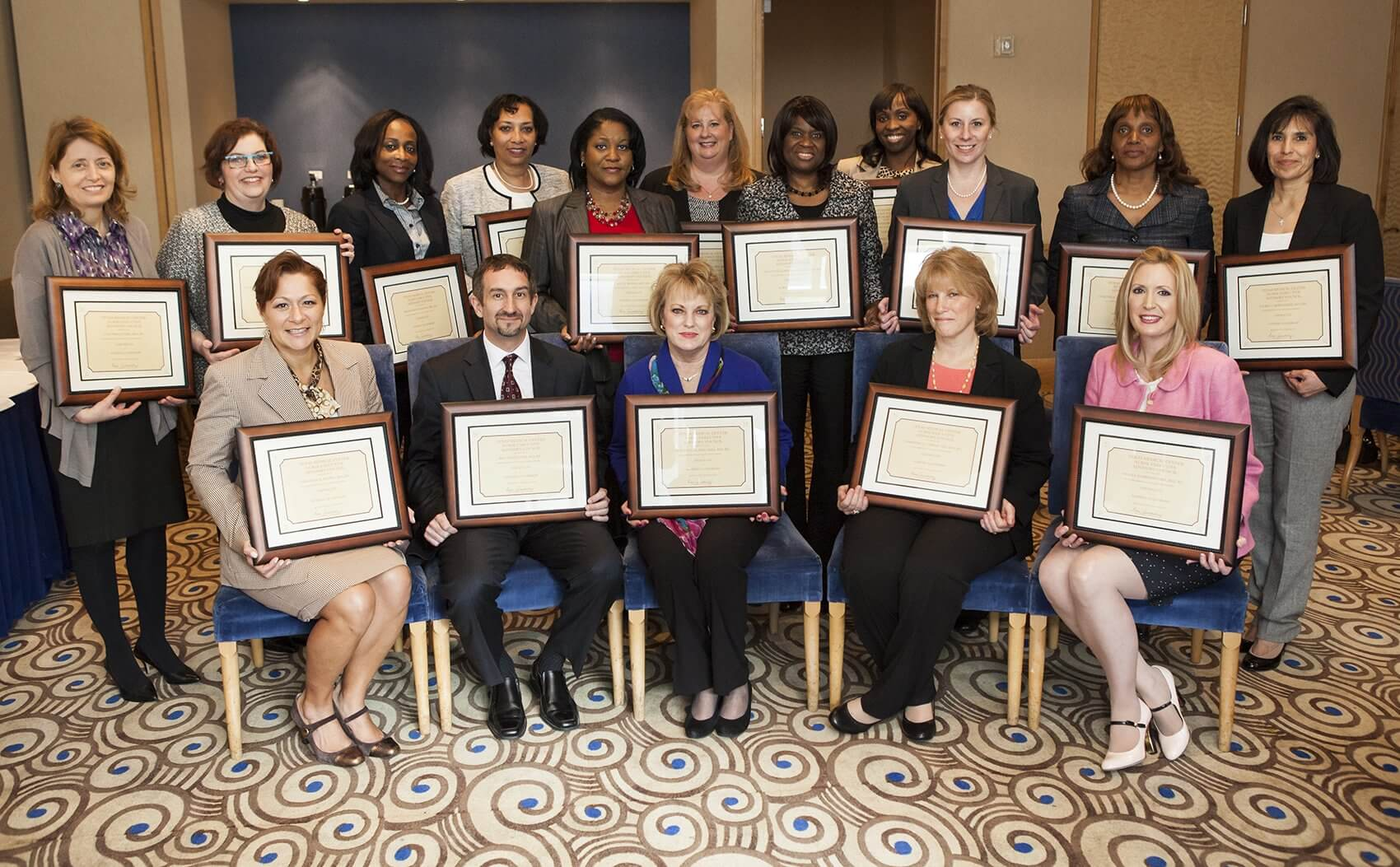 The graduating class is comprised of 16 seasoned nurse leaders who were hand selected by their CEO or CNO to participate in the program (Credit: Scott Dalton)