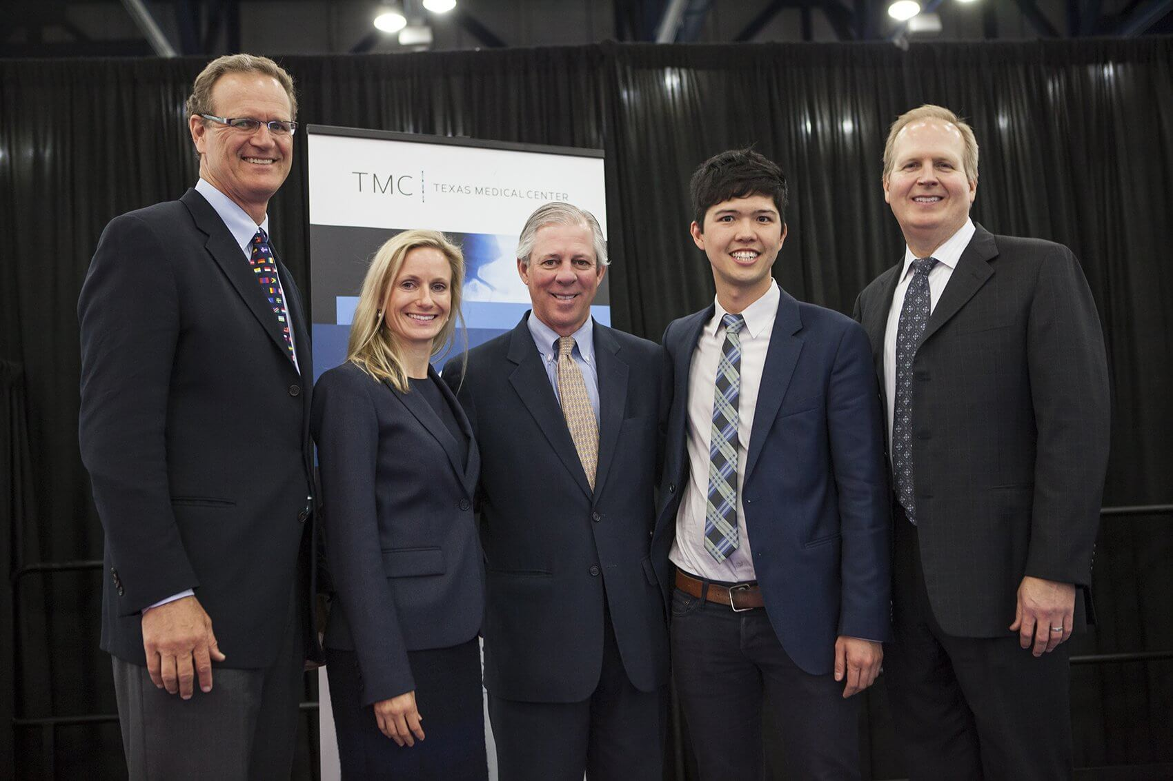Milton McColl, M.D., chief executive officer of Gauss Surgical; Katherine Forth, Ph.D., chief executive officer of iShoe; Robert C. Robbins, M.D., chief executive officer of the Texas Medical Center; Niko Skievaski, co-founder of Redox and Mitchell Eggers, Ph.D., president and chief executive officer of Adient Medical.