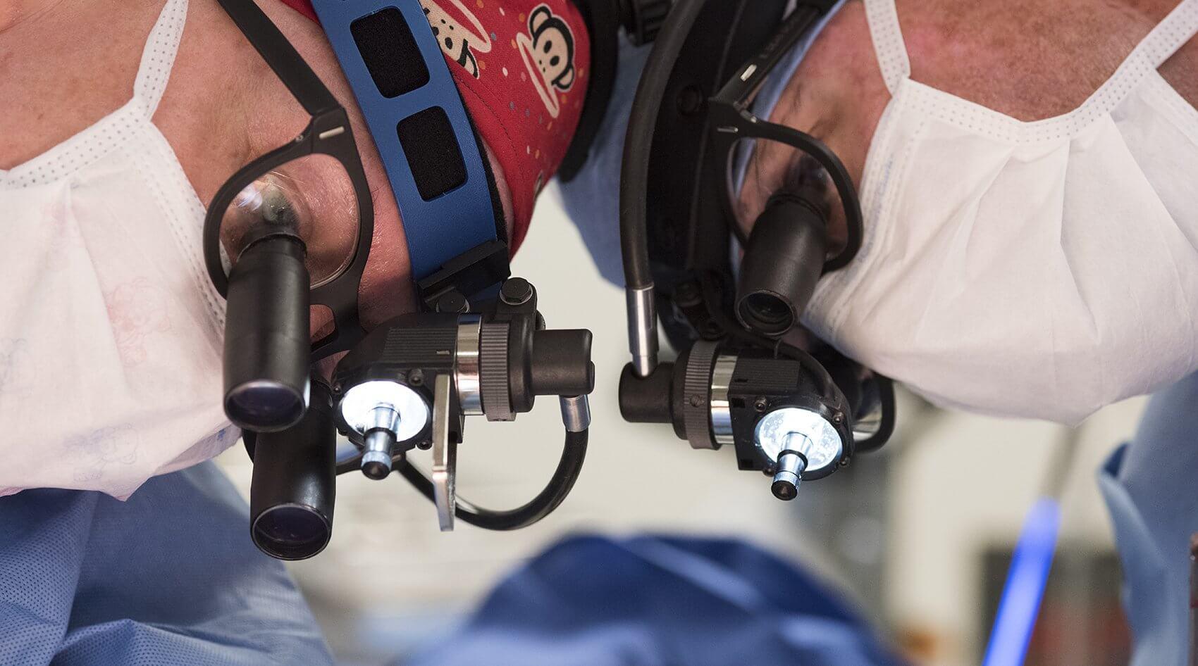 From left – Darrell Cass, M.D., and Dean McKenzie, M.D., pediatric congenital heart surgeon at Texas Children's Hospital and associate professor of congenital heart surgery at Baylor College of Medicine. (Credit: Paul Vincent Kuntz/Texas Children's Hospital)