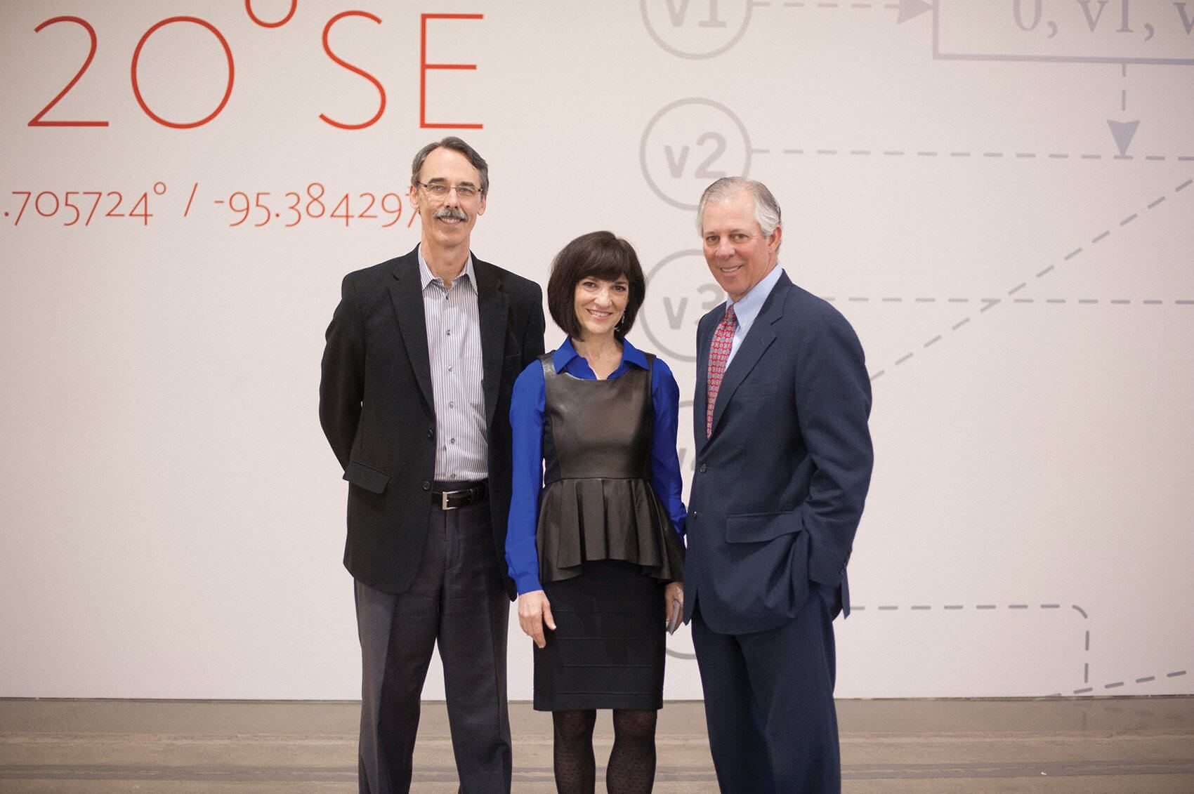 Clay Phillips, vice president of business development for LaunchPad Central, Andrea Kates, chief executive officer of LaunchPad Central, and Robert C. Robbins, M.D., president and chief executive officer of the Texas Medical Center.