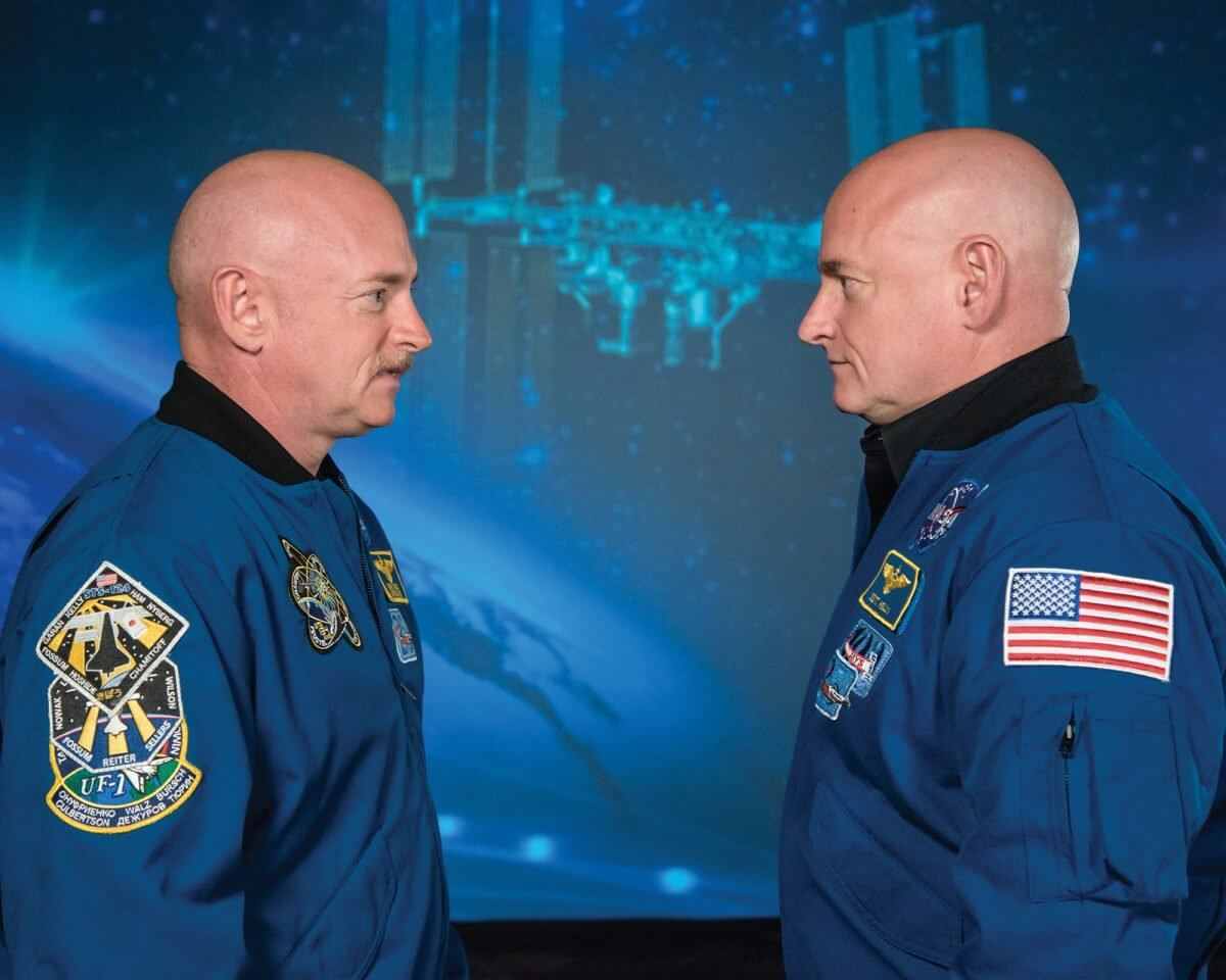 Twin brothers and former NASA astronauts Mark (left) and Scott Kelly, are part of NASA's ongoing Twins Study (Credit: NASA).