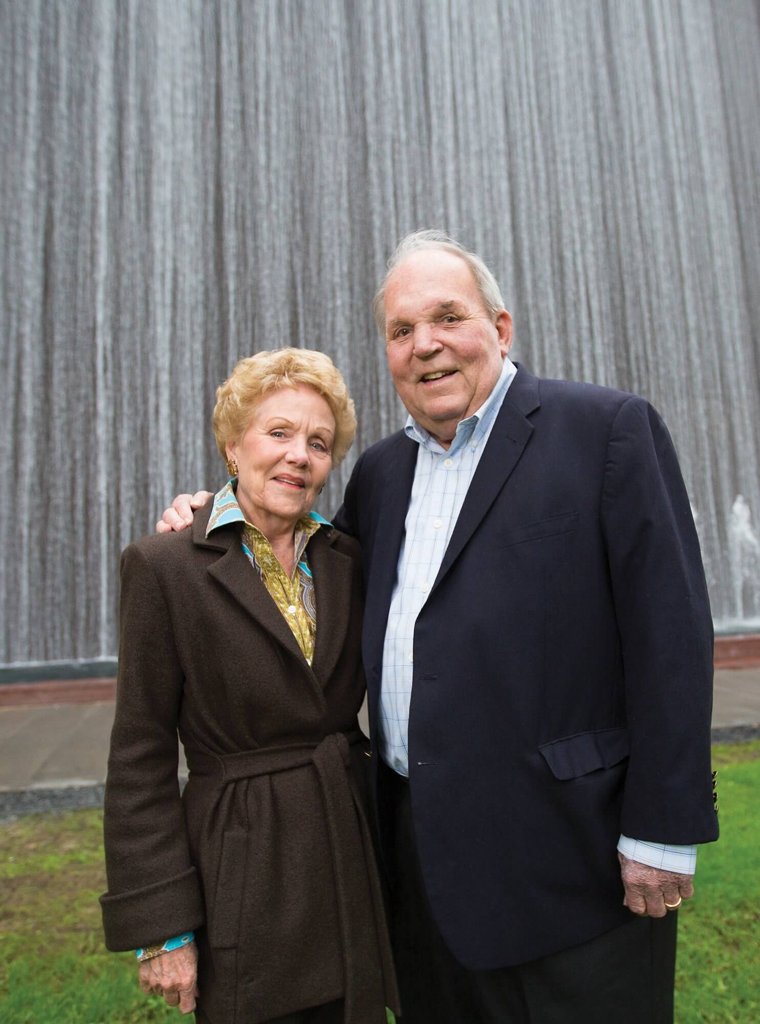 Emily and Holcombe Crosswell have been married for more than 50 years. Holcombe Crosswell is chairman of the board of directors of the Texas Medical Center.