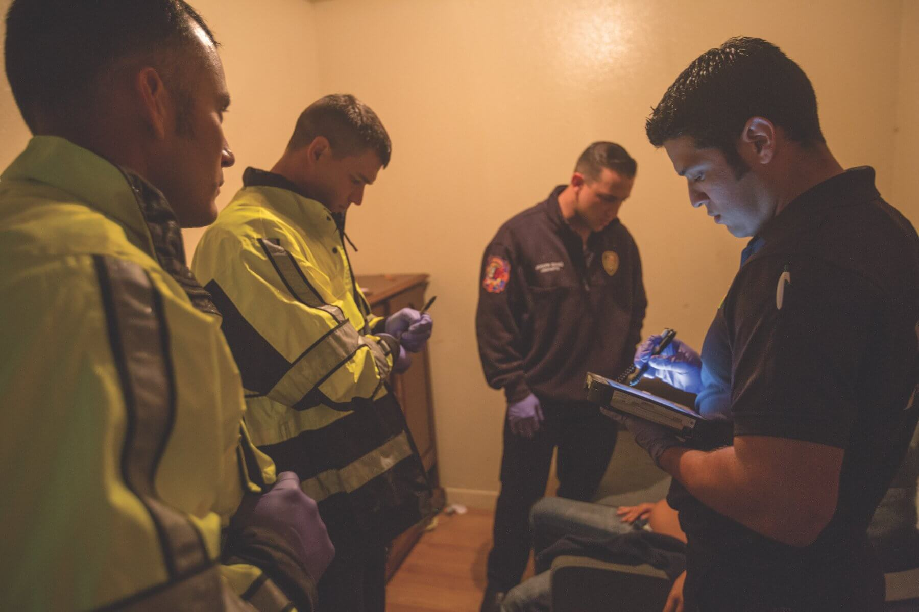 When paramedics enter a home, they assess the patient to determine if the Emergency Tele-Health and Navigation resource is applicable.