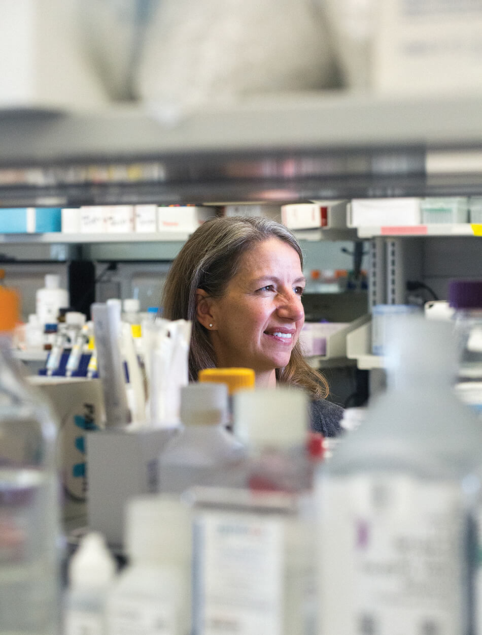 Richards-Kortum in her lab at the BioScience Research Collaborative.
