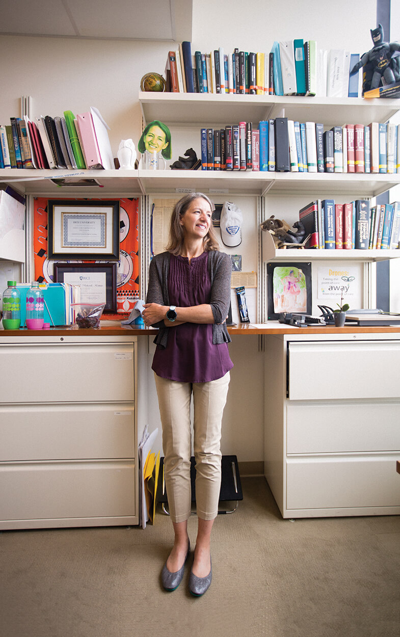 Rebecca Richards-Kortum, Ph.D., in her office at Rice University's BioScience Research Collaborative.