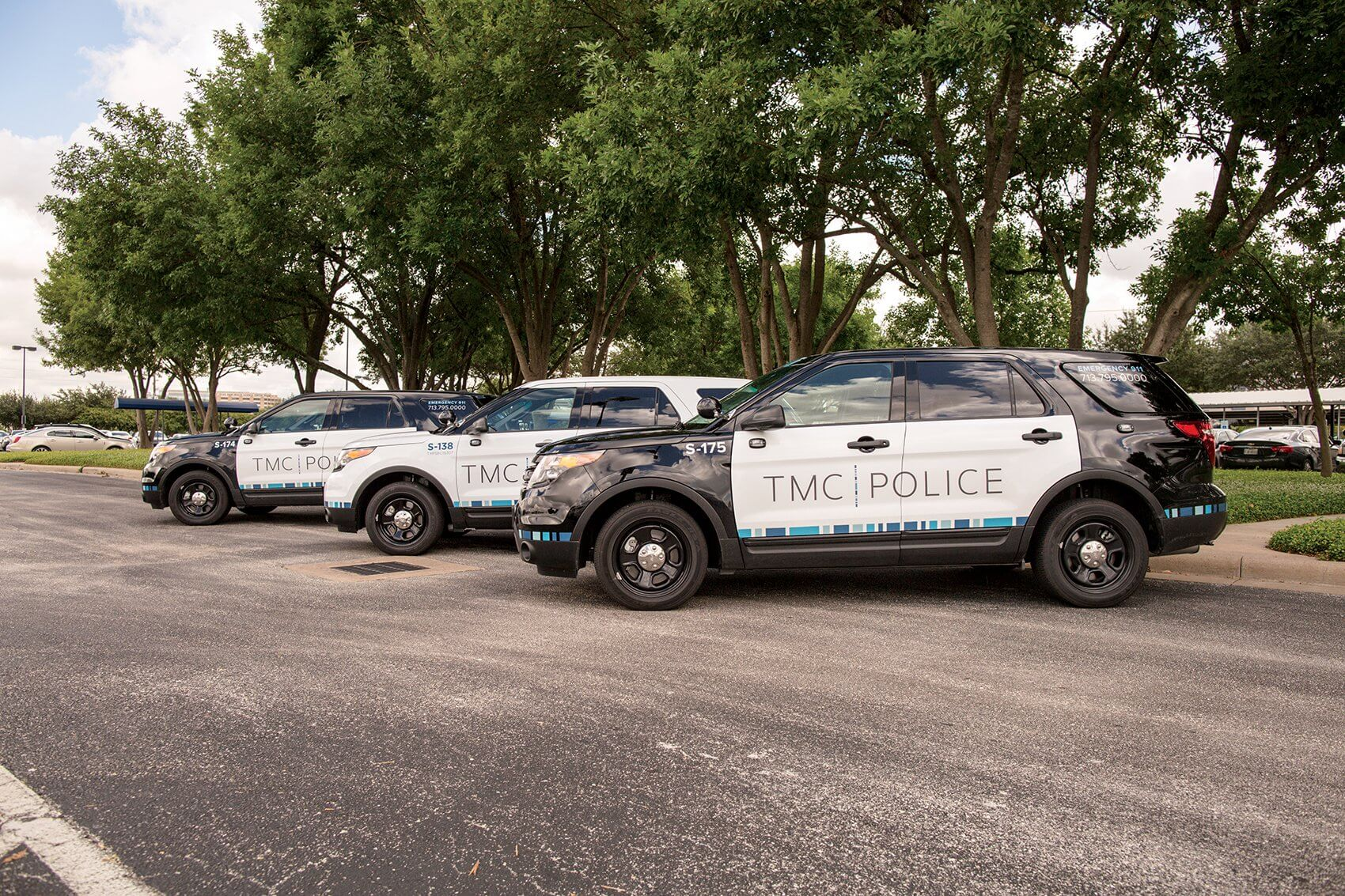 The TMC security and police vehicles recently received a makeover and now feature updated Texas Medical Center graphics.