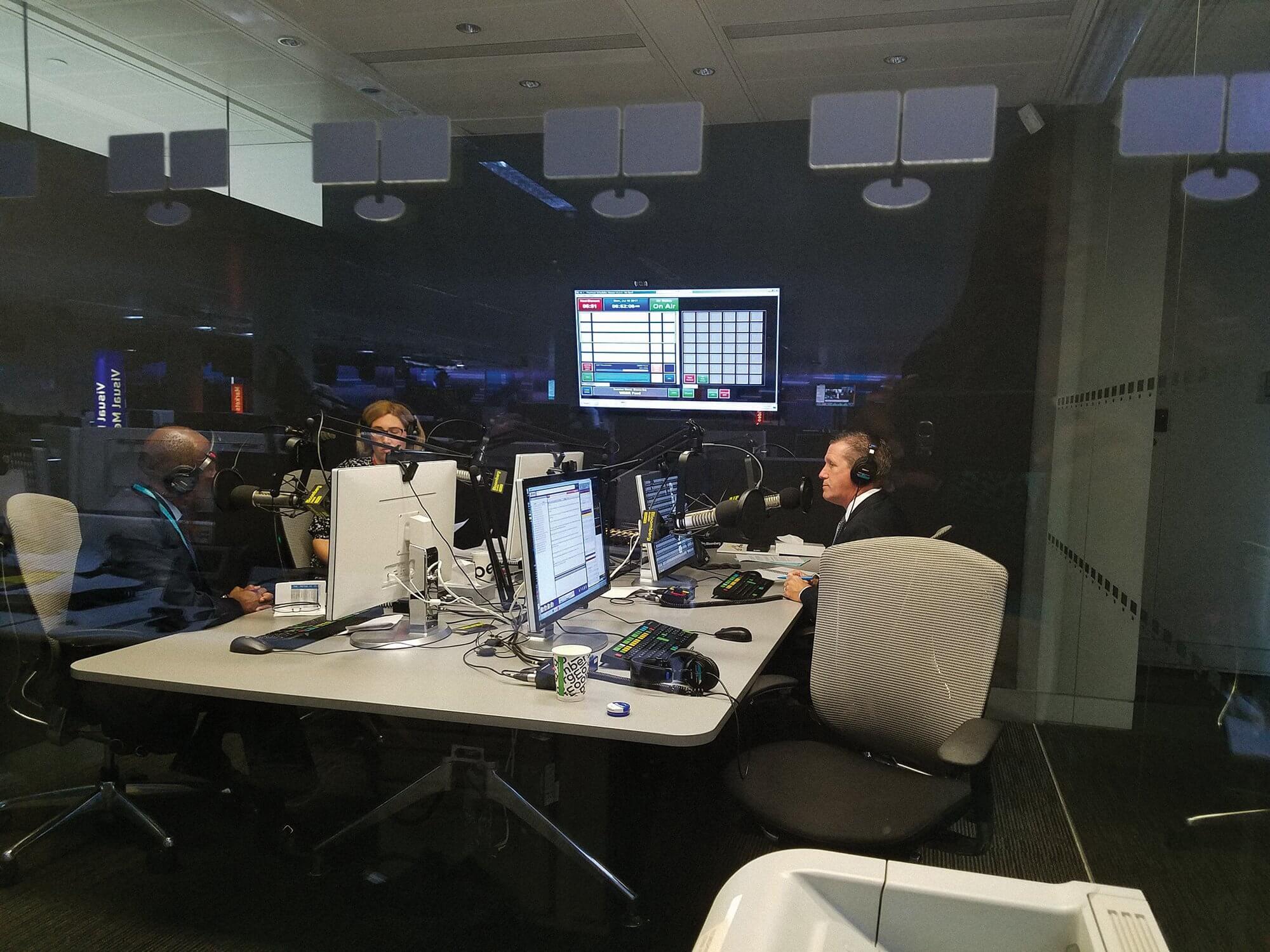 With Mayor Turner on BBC Radio in London.