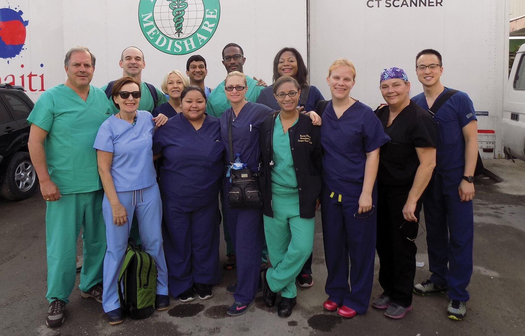 The care team at Hospital Bernard Mevs in Haiti. (Credit: Memorial Hermann)