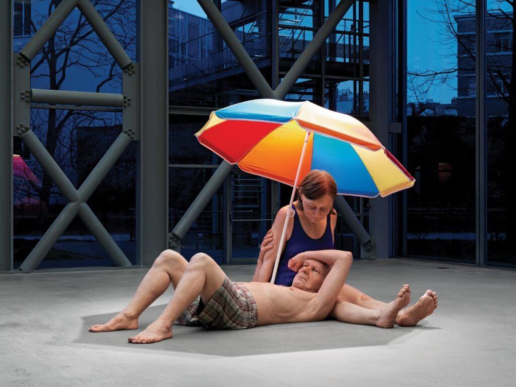 RE_Couple under an Umbrella