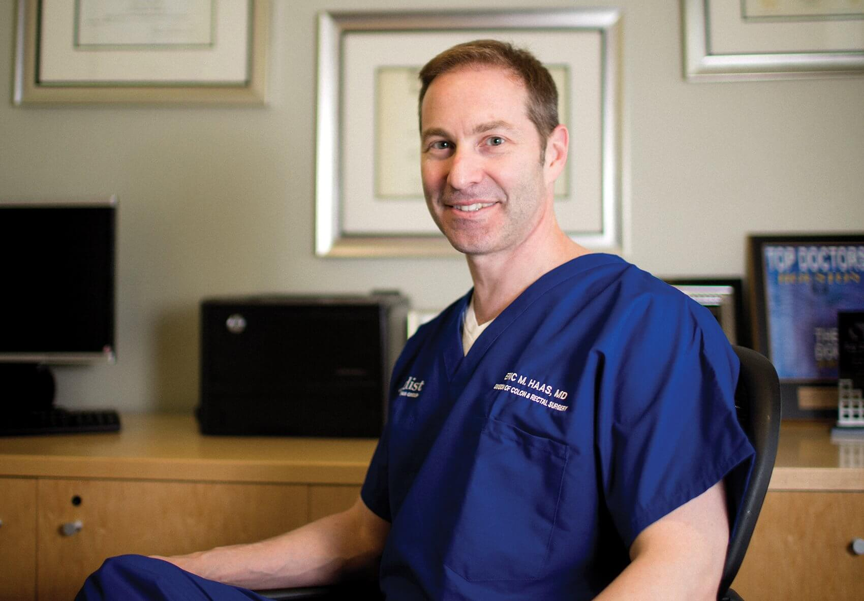 Eric Haas, M.D., division chief of colon and rectal surgery at Houston Methodist Hospital