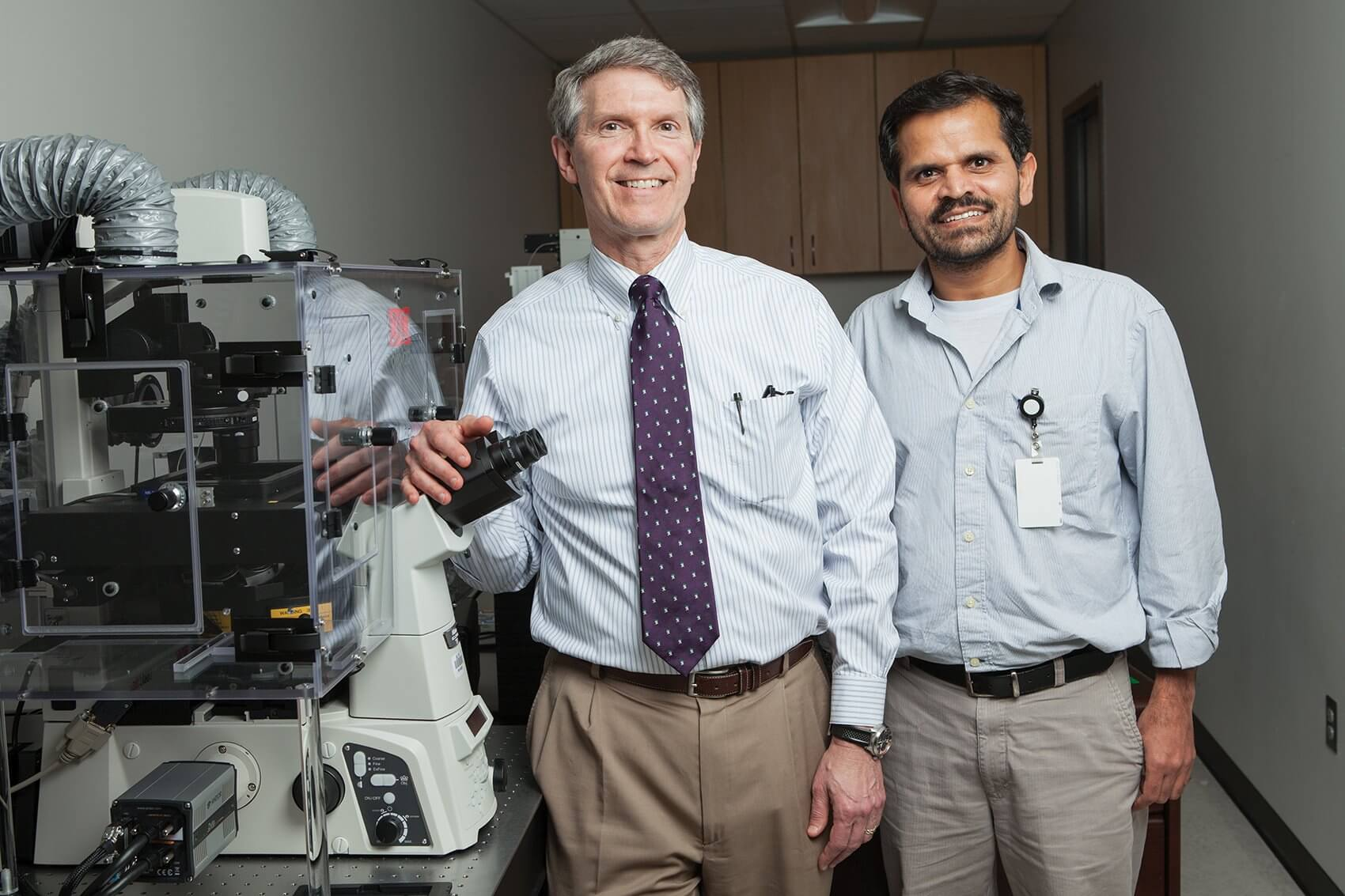 Stephen C. Pflugfelder, M.D., and Ghanashyam Acharya, Ph.D., are leveraging their combined expertise to reinvent the way that eye medication is administered.