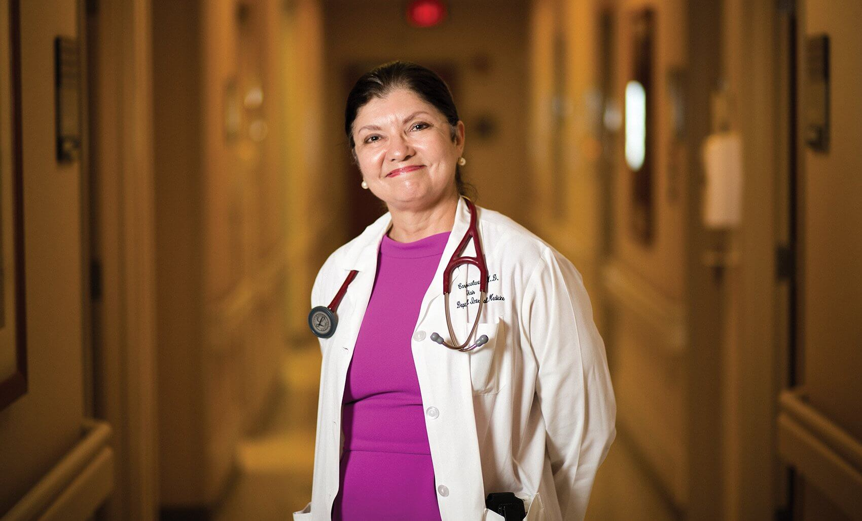 Carmelita P. Escalante, M.D., professor and department chair of general internal medicine at MD Anderson and physician at the Cancer-Related Fatigue Clinic.