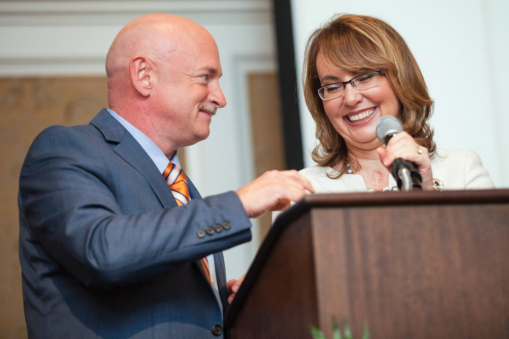 Former TIRR Memorial Hermann patient and Arizona Congresswoman Gabby Giffords with her husband, Mark Kelly.