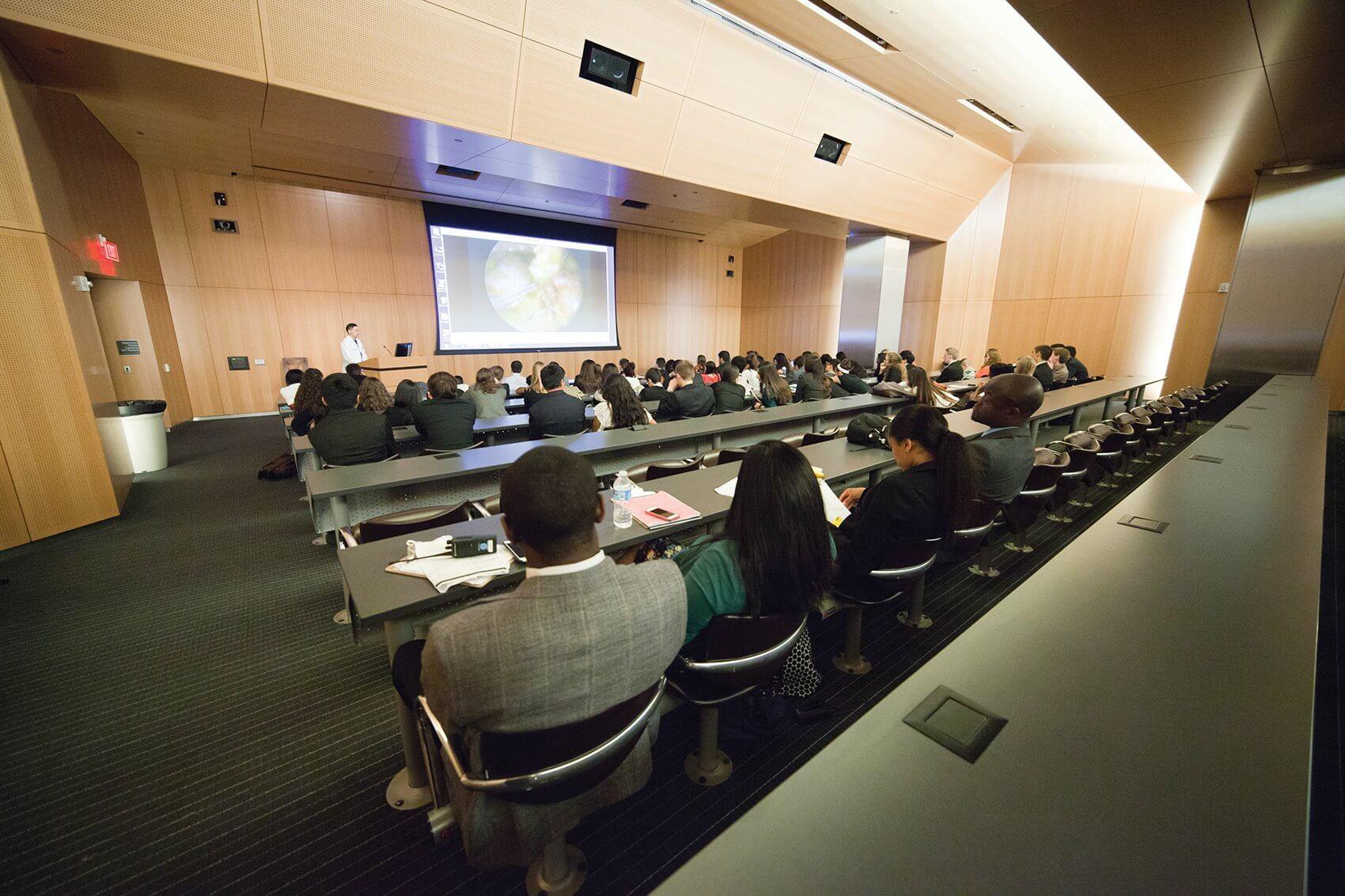 Lectures and video presentations provided an overview of different surgical specialties.