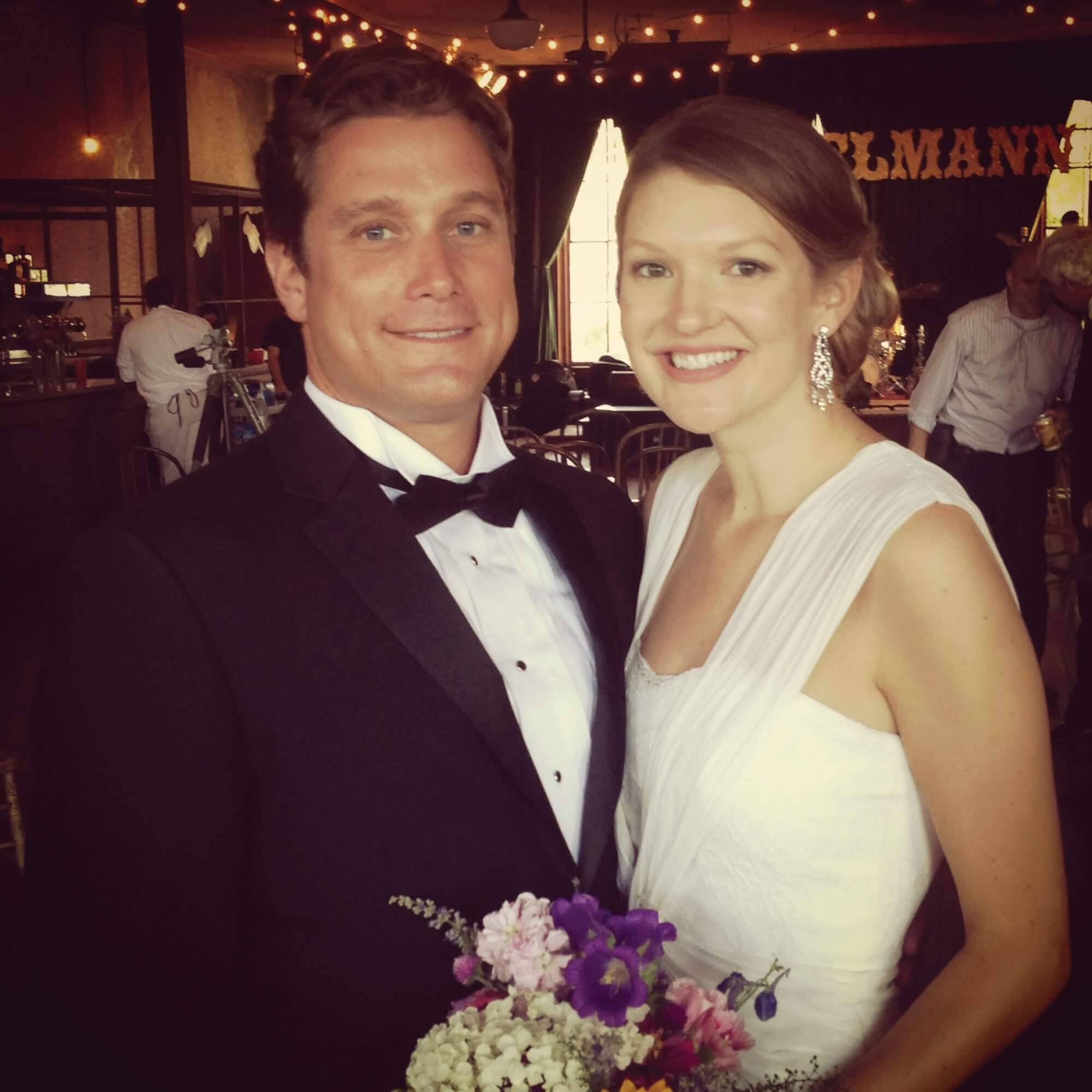 Writer Alexandra Becker on her wedding day.