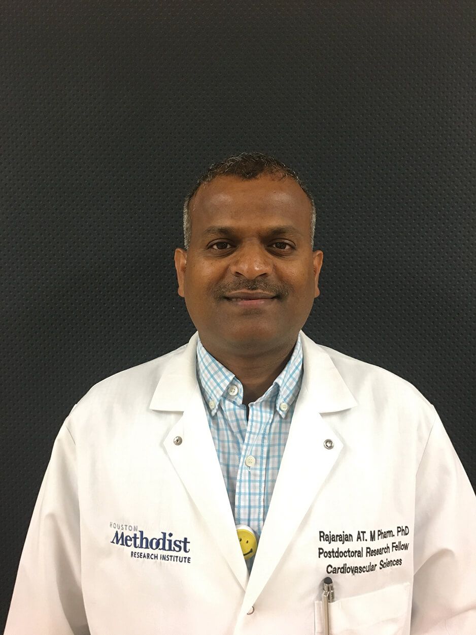 RAJARAJAN AMIRTHALINGAM THANDAVARAYAN, PH.D., instructor at the Houston Methodist Research Institute's department of cardiovascular sciences, was awarded a two-year American Heart Association Innovative Project Award.
