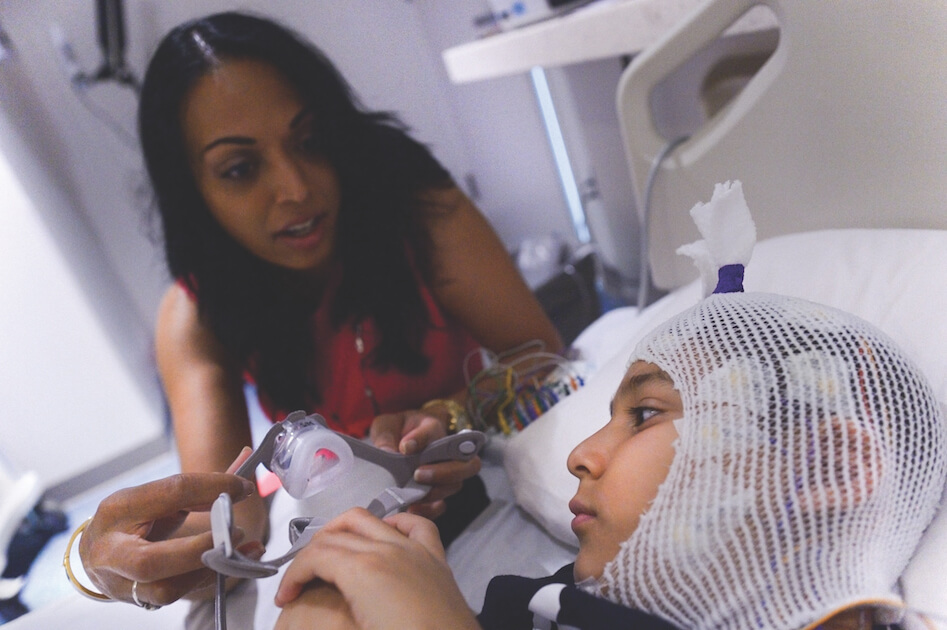 Amee Patel in Texas Children's Hospital sleep lab
