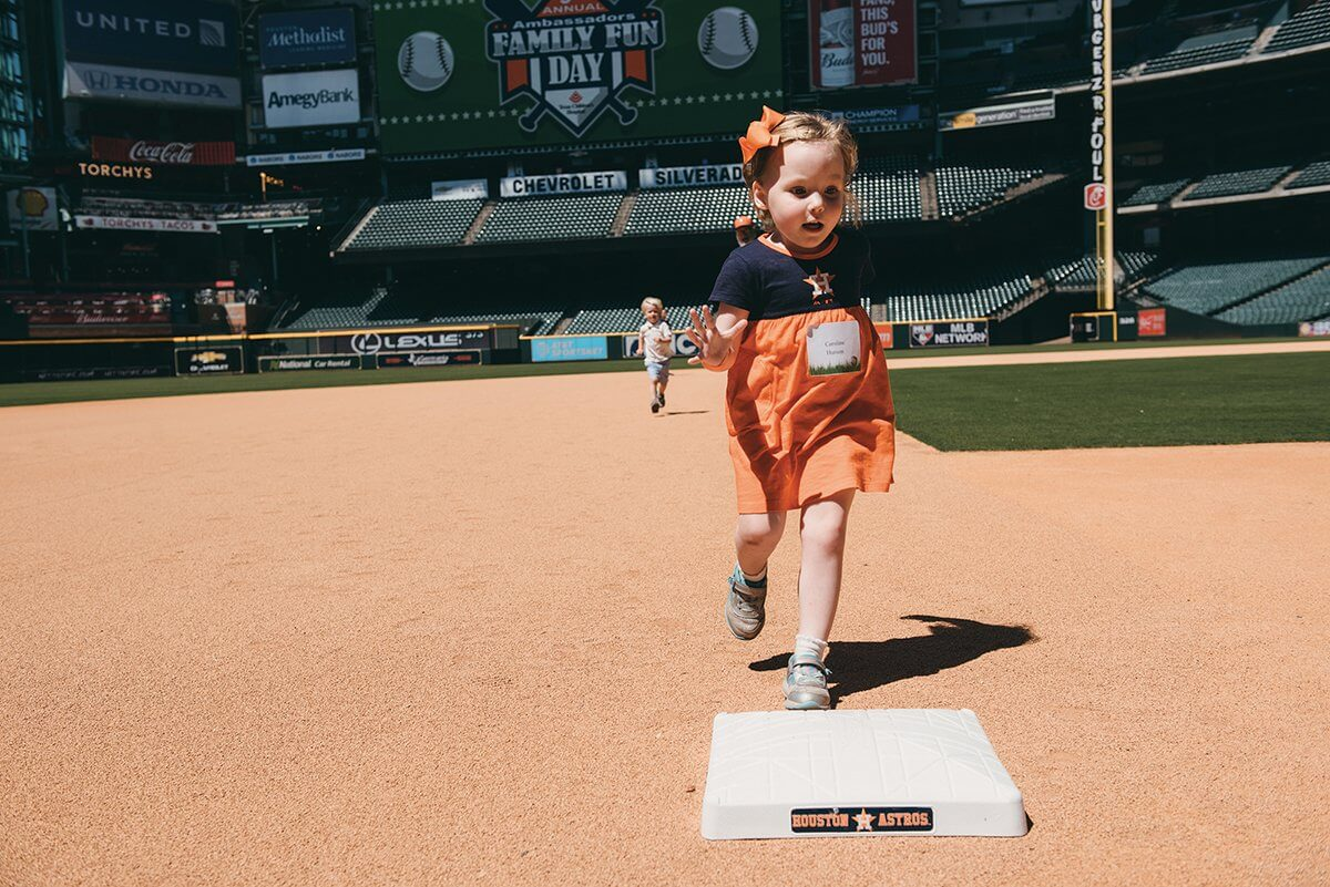 Texas Children's Ambassadors and the Astros Foundation hosted a Family Fun Day at Minute Maid Park to benefit the Child Life Program at Texas Children's Hospital (Credit: Chinh Phan).