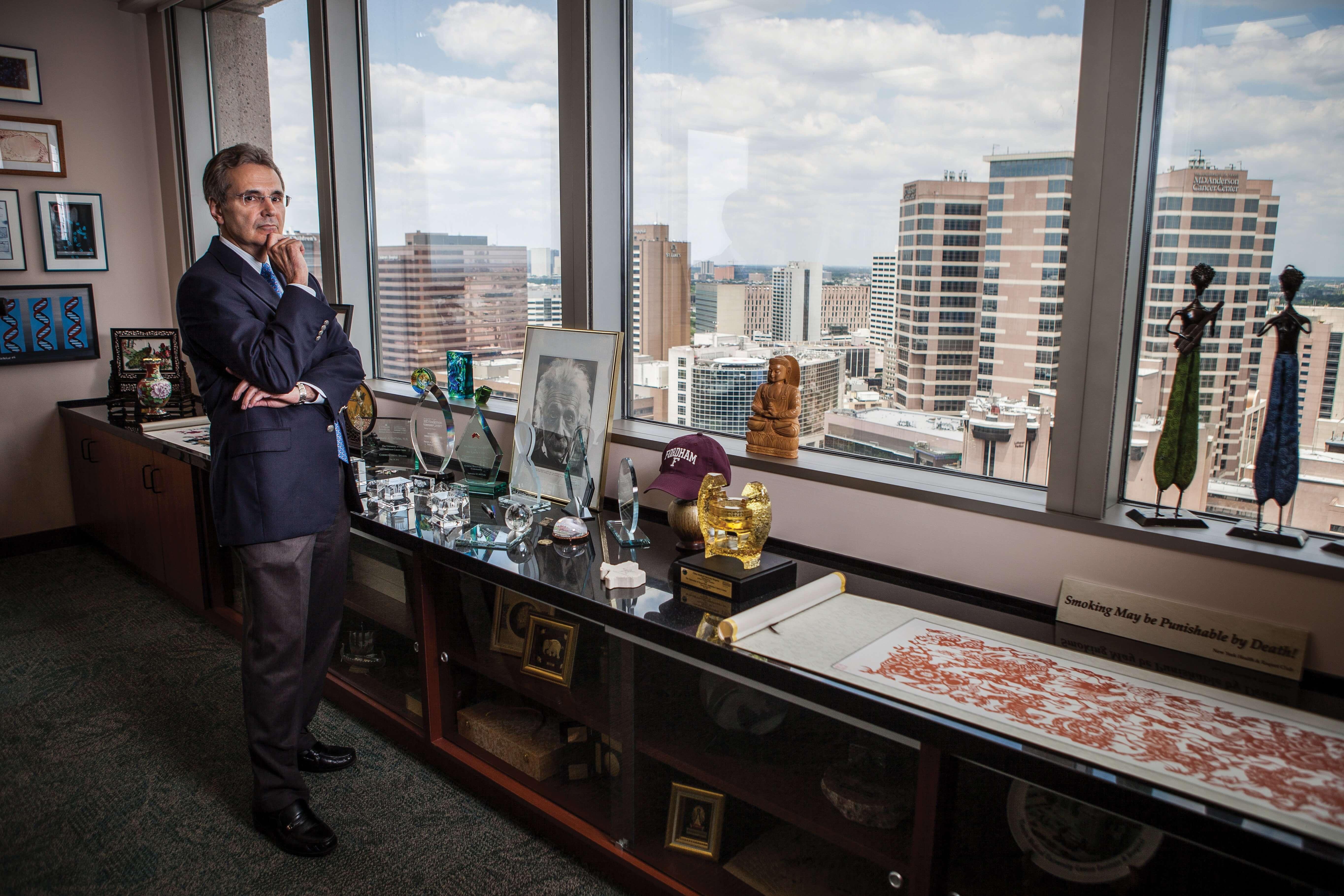 Ronald A. DePinho, M.D., President of the University of Texas MD Anderson Cancer Center (Credit: Nick de la Torre)