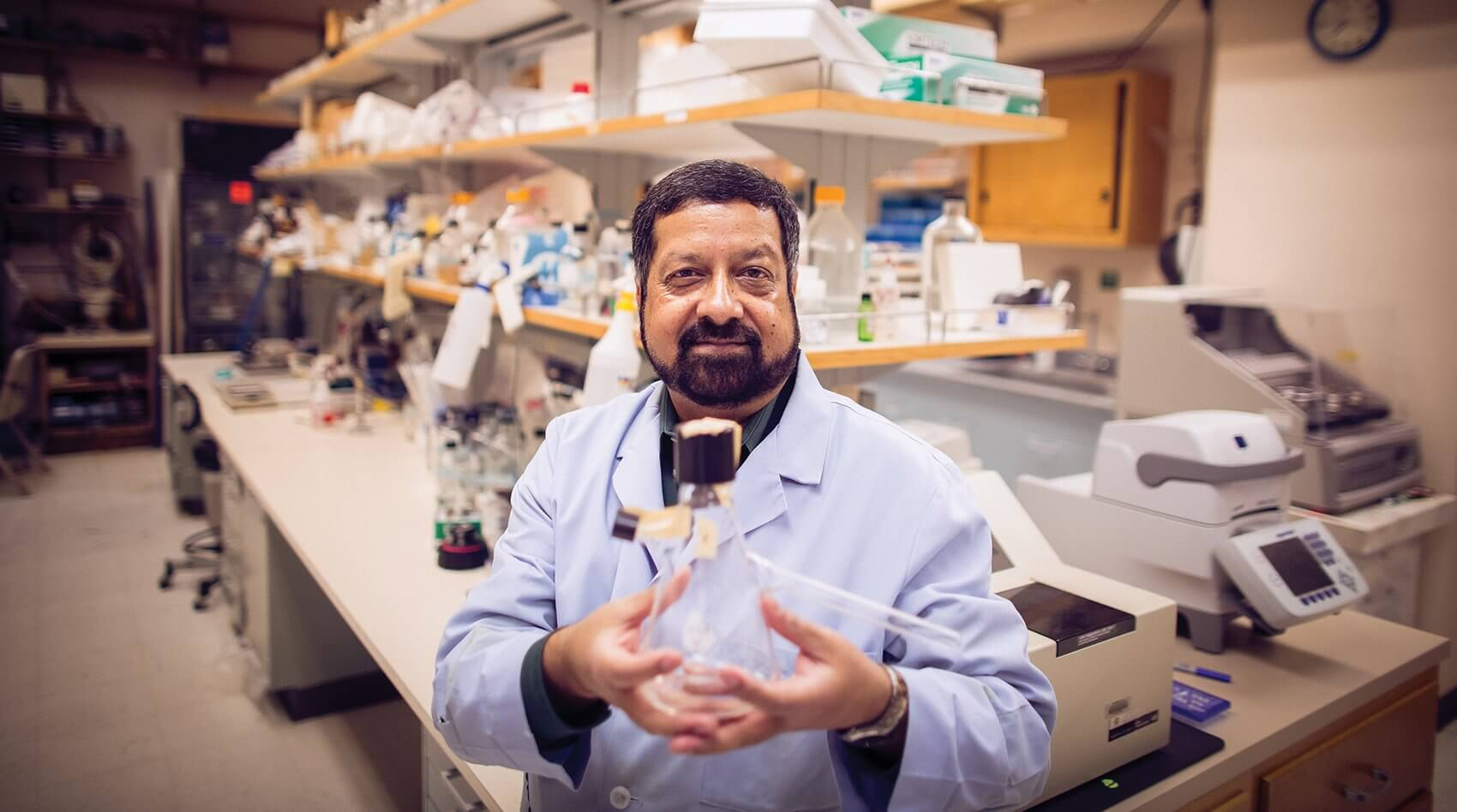 Ashok Chopra, Ph.D., professor of microbiology and immunology at The University of Texas Medical Branch at Galveston.