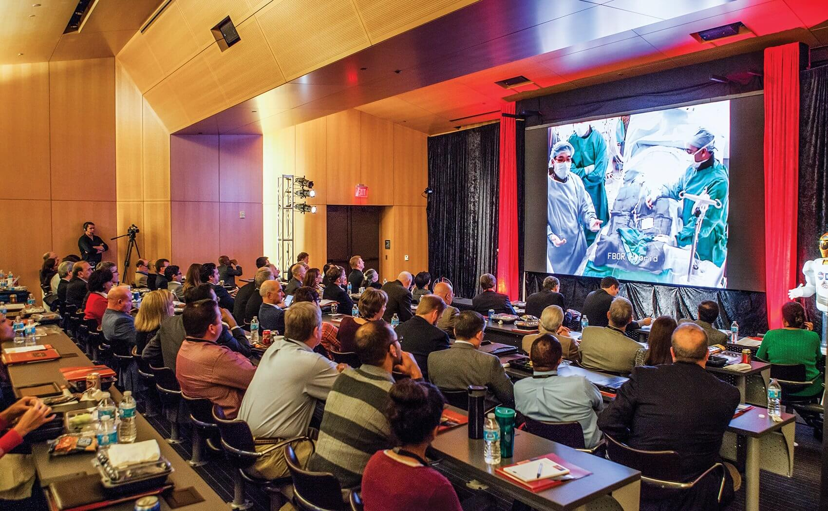 Attendees were able to watch a live transcatheter pulmonary valve replacement unfold right before their eyes.