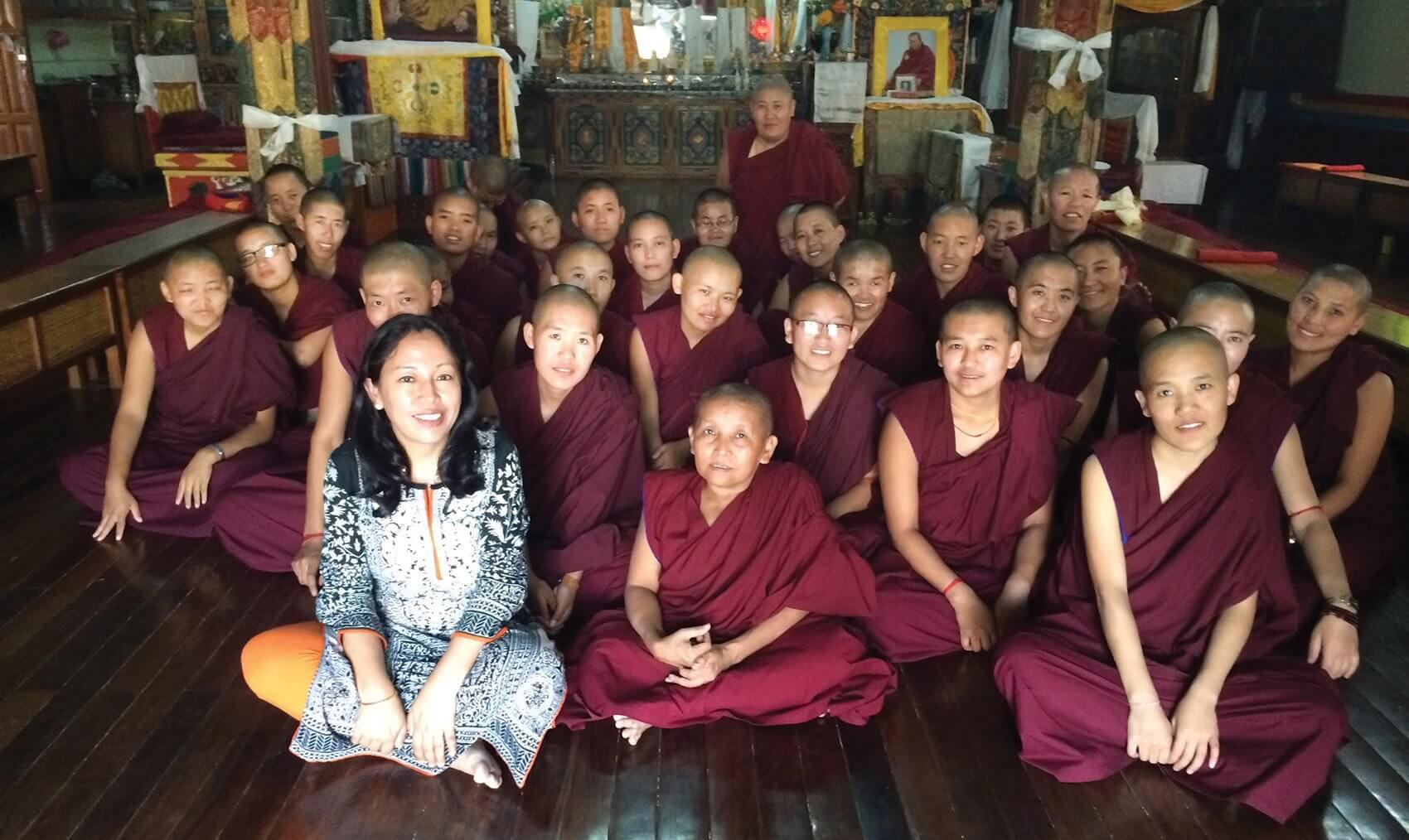 Banu visits a nunnery in Nepal's capital, Kathmandu.