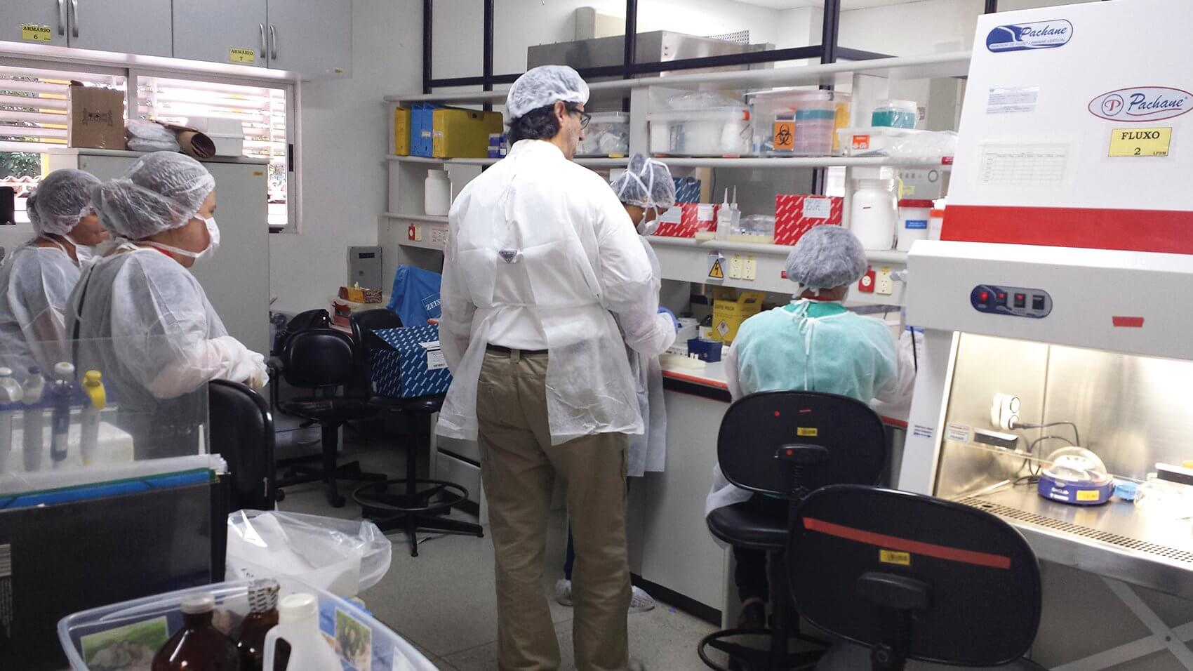 UTMB scientists with expertise in arboviruses, including Zika, worked alongside Brazilian colleagues in December to establish diagnostic capabilities in local clinics. (Credit: Shannan Rossi, Ph.D., UTMB)