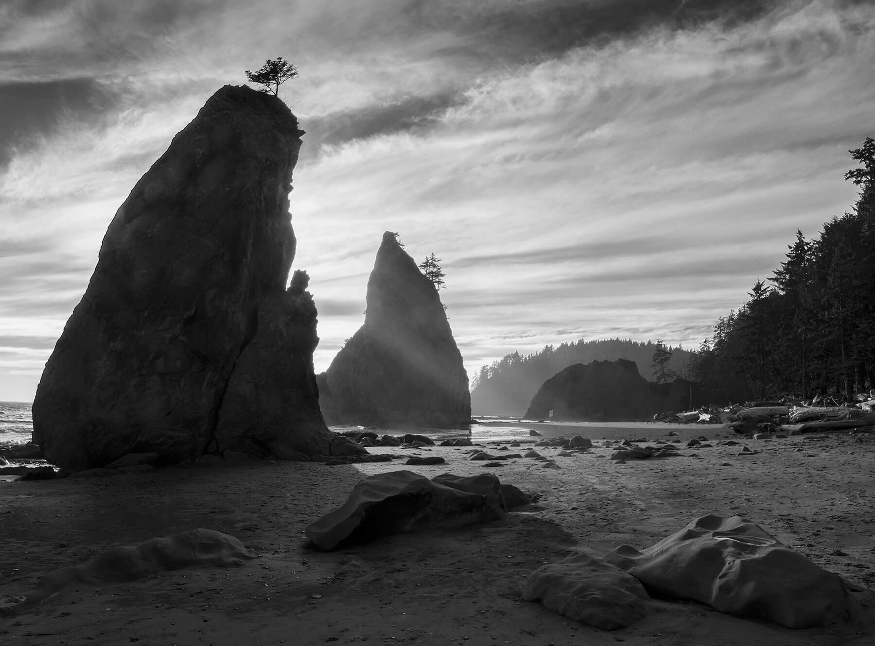 'Rialto Beach Seastacks,' Olympic National Park-Photo by Mark Burns