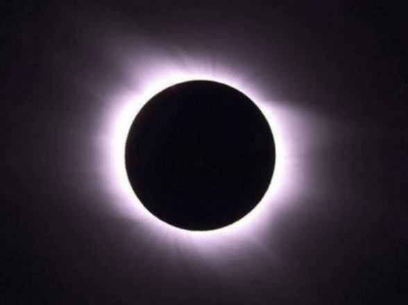 Photograph of a total solar eclipse.