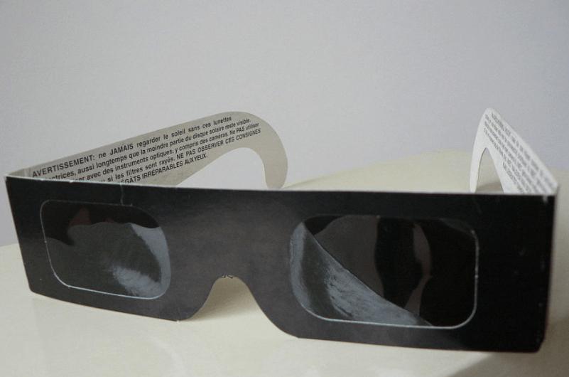Solar eclipse glasses.