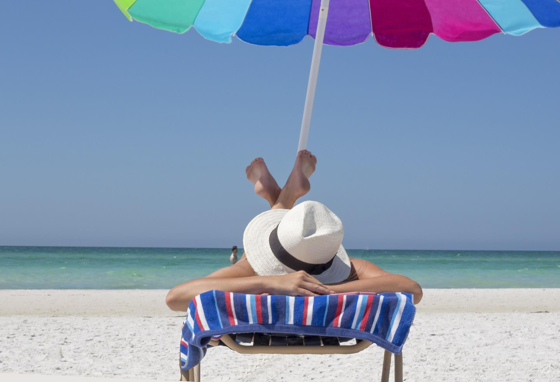 Sunscreen, shade and protective clothing are the best defenses against harmful UV rays.