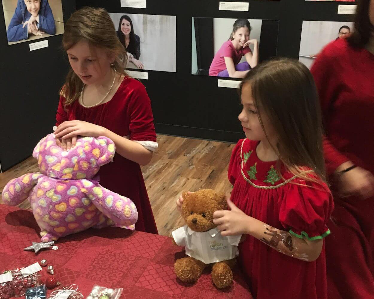 Guests at the annual Teddy Bear Check-up make sure their beloved stuffed animals are in tip-top health.