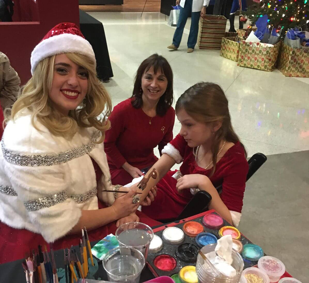 Guests were treated to face painting, balloon animals, music and more in addition to the check-ups.