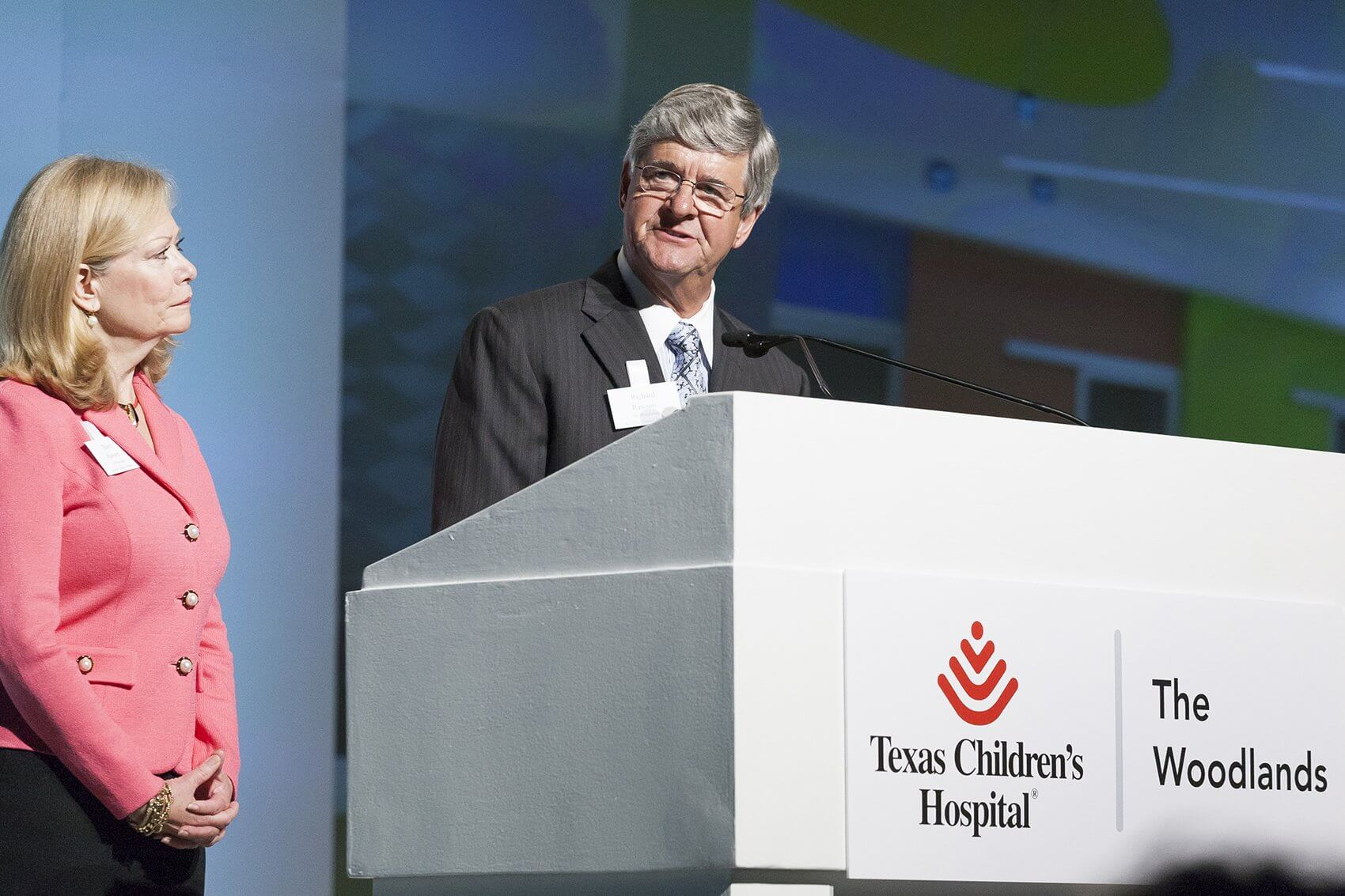 Dawn and Richard Rawson, who recently gave a $1 million gift through the naming of the admissions area at Texas Children's Hospital The Woodlands, speak about the inspiration behind their generosity (Credit: John R. Lewis Photography)