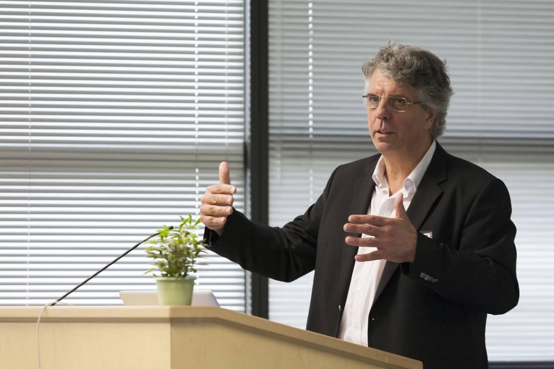 Dr. Olivier Delattre, Curie Institute, Paris, France delivers the keynote address