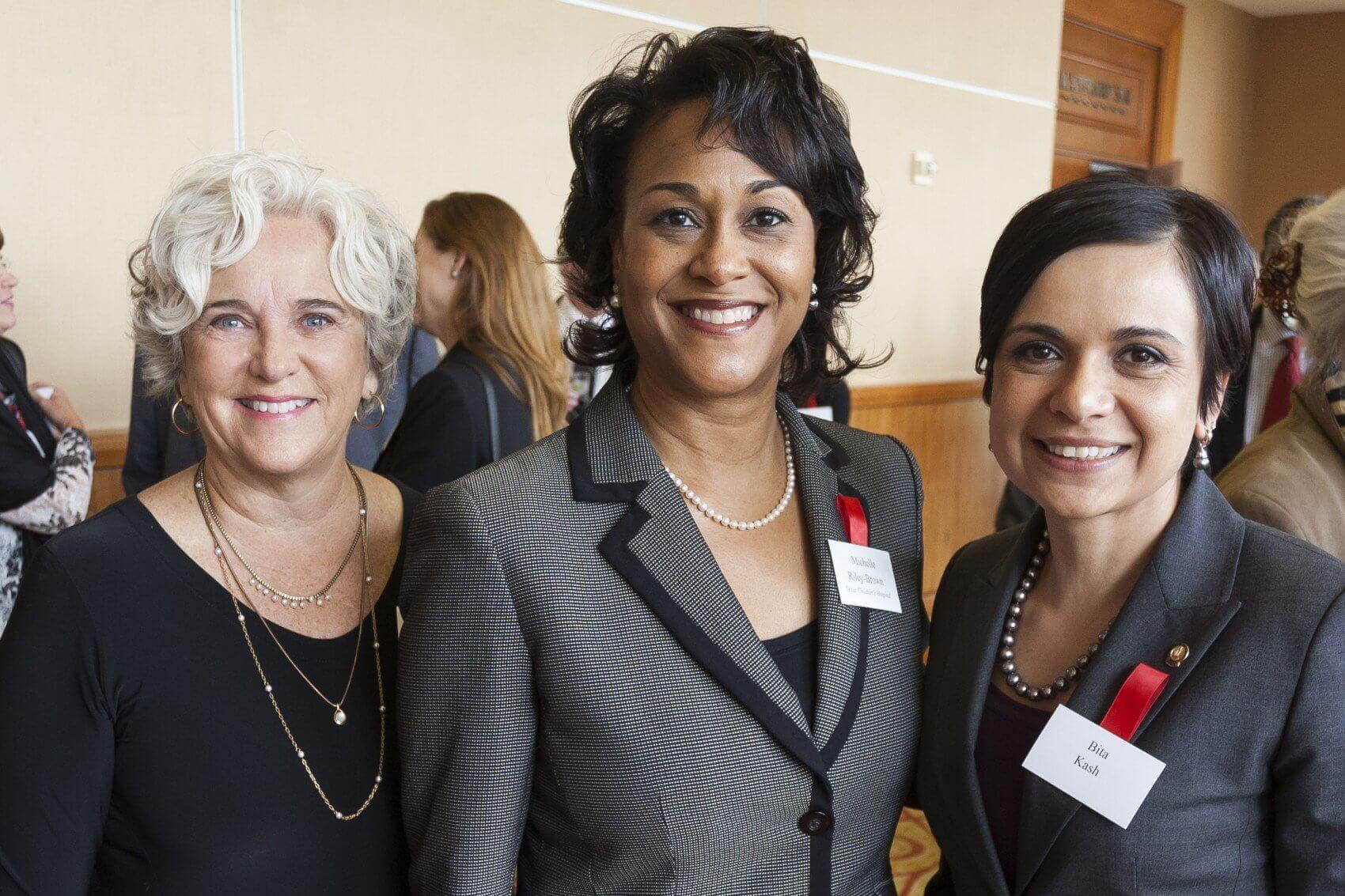 Carol Garner, Michelle Riley-Brown of Texas Children's Hospital and Bita Kash (Credit: John Lewis Photography)