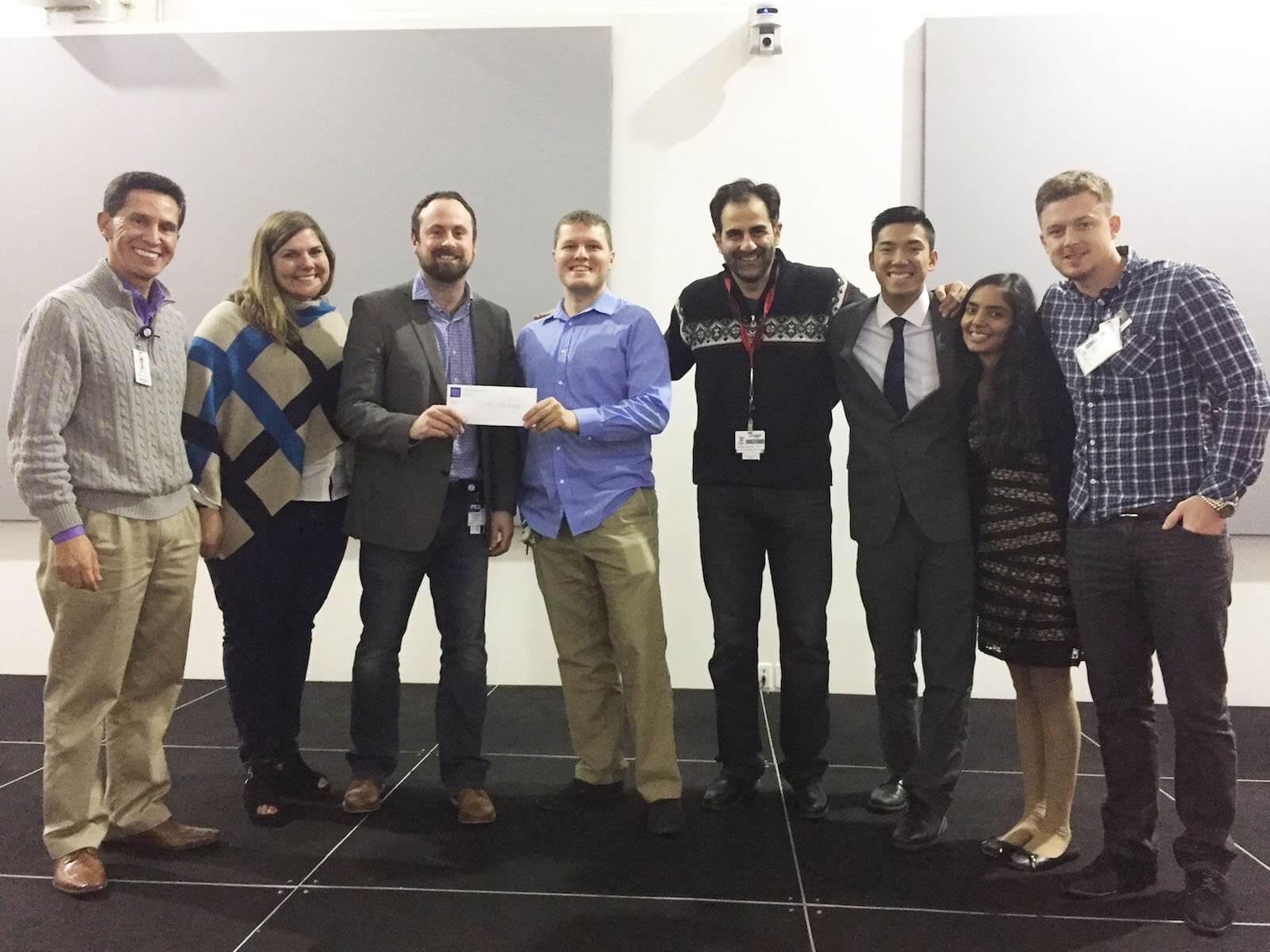 Team ABx won first place for their abdominal aortic repair simulator.