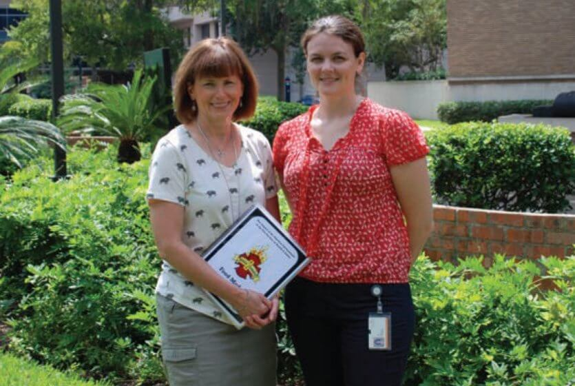 Rena Sue Day, Ph.D., and doctoral candidate Michelle L. Wilkinson have focused their research on the health of firefighters across the country. (Credit: UThealth)
