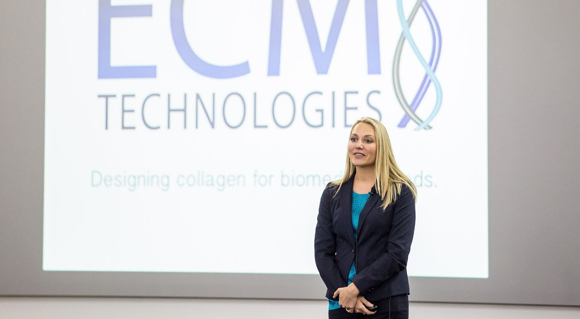 Brooke Russell, Ph.D., vice president of ECM Technologies.