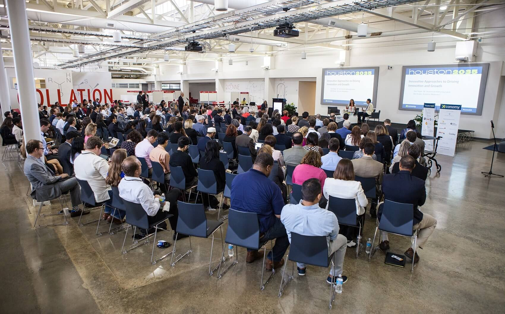 Around 300 audience members attended the inaugural Houston 2035 conference.