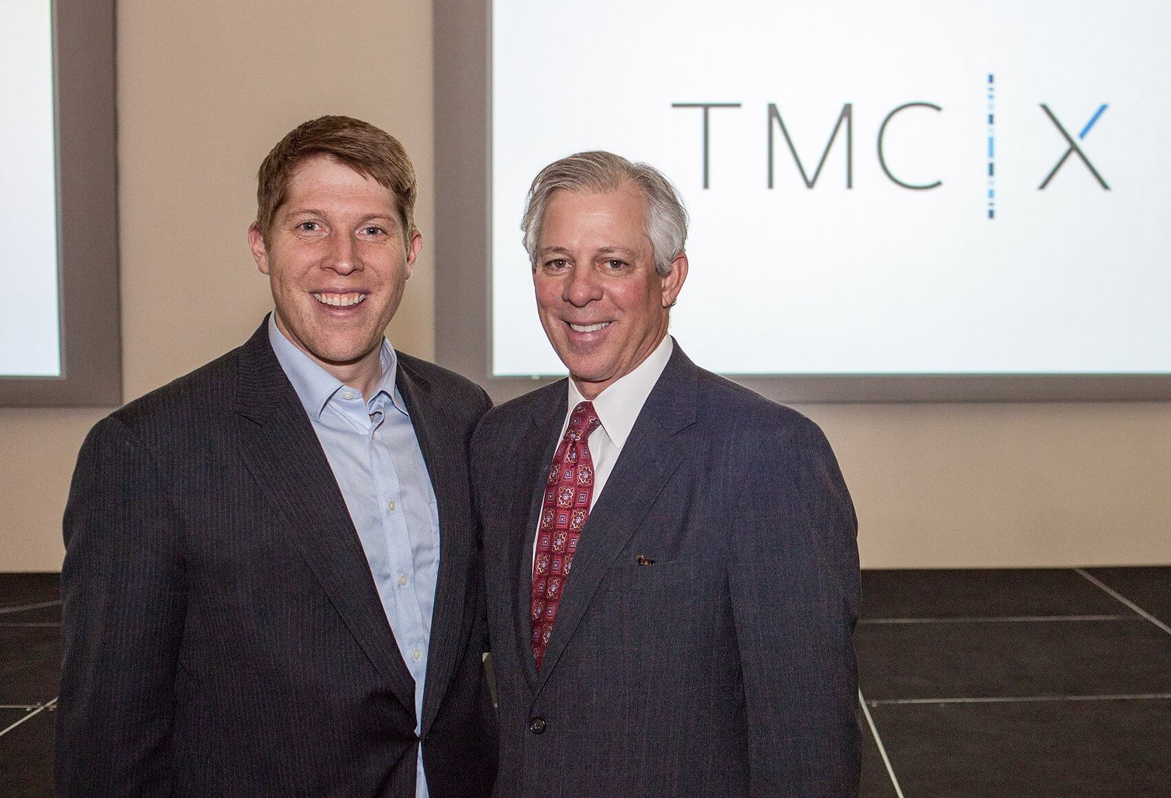 Robert C. Robbins, M.D., president and CEO of the Texas Medical Center, pictured right, and Ross Baird.