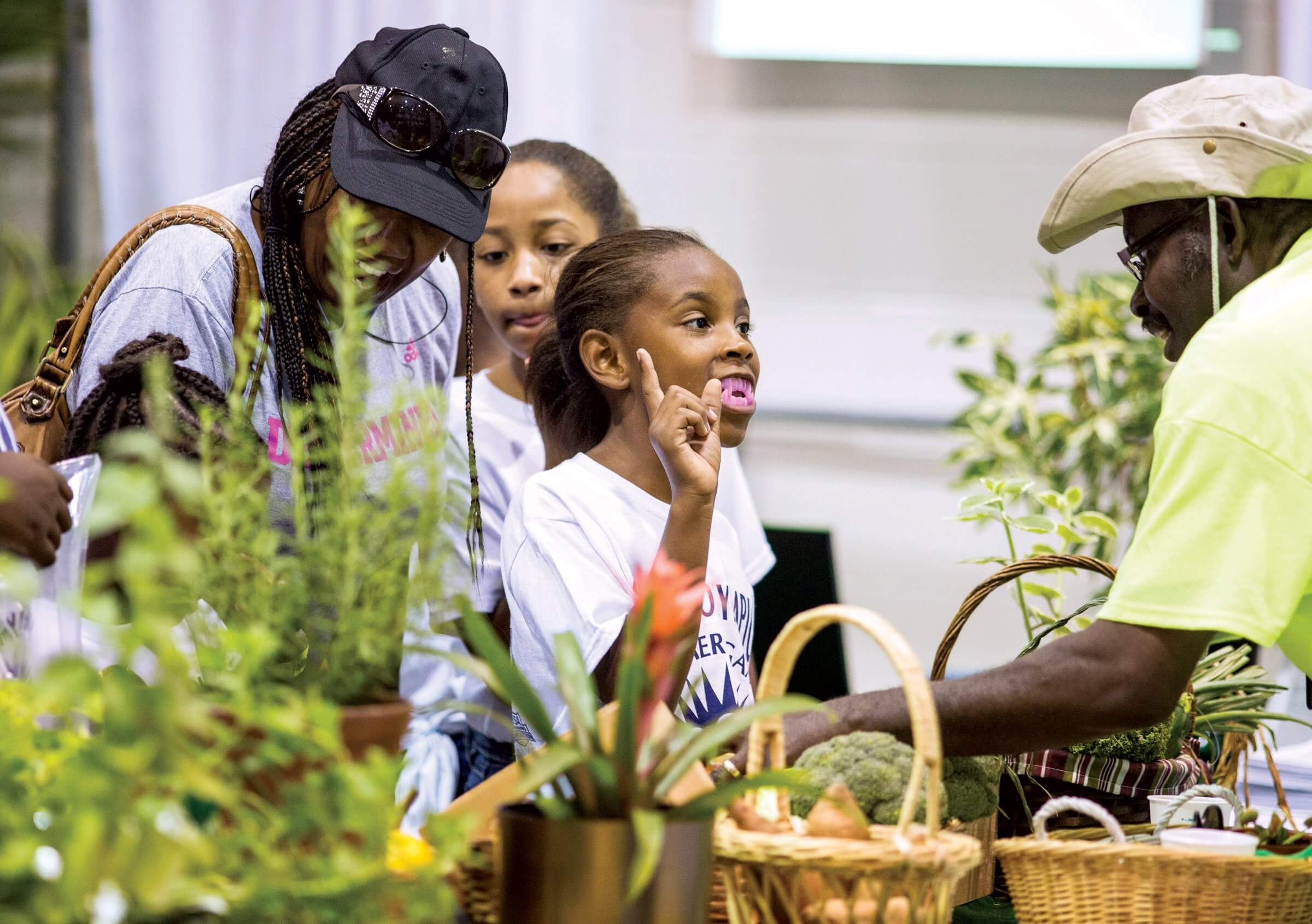 At the exhibit for Harris County Precinct One Horticulture Department, students have the opportunity to learn about growing herbs, vegetables and plants.