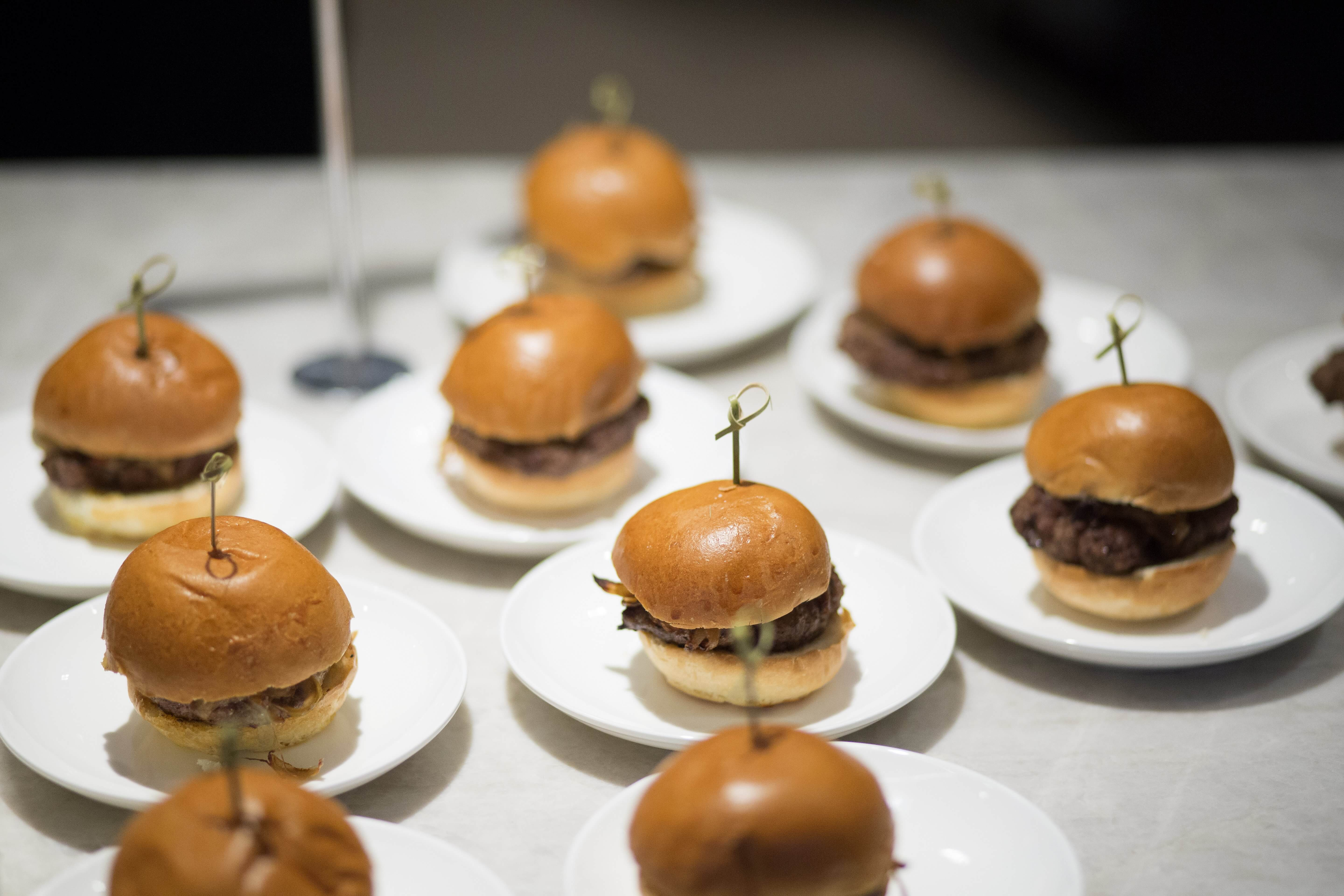 Tender sliders were served to guests to snack on throughout the evening.
