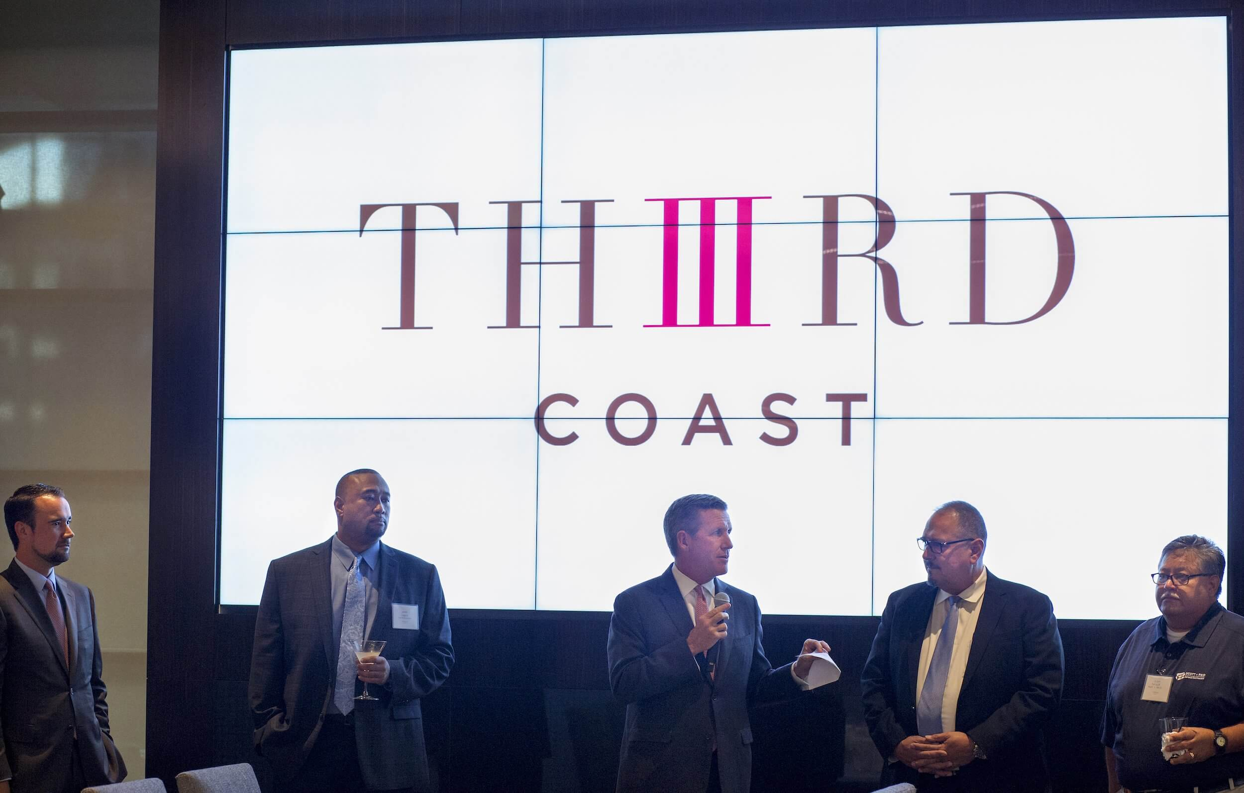 William F. McKeon, chief operational officer of the Texas Medical Center introduces the Third Coast- an upscale restaurant located in the heart of the medical center.