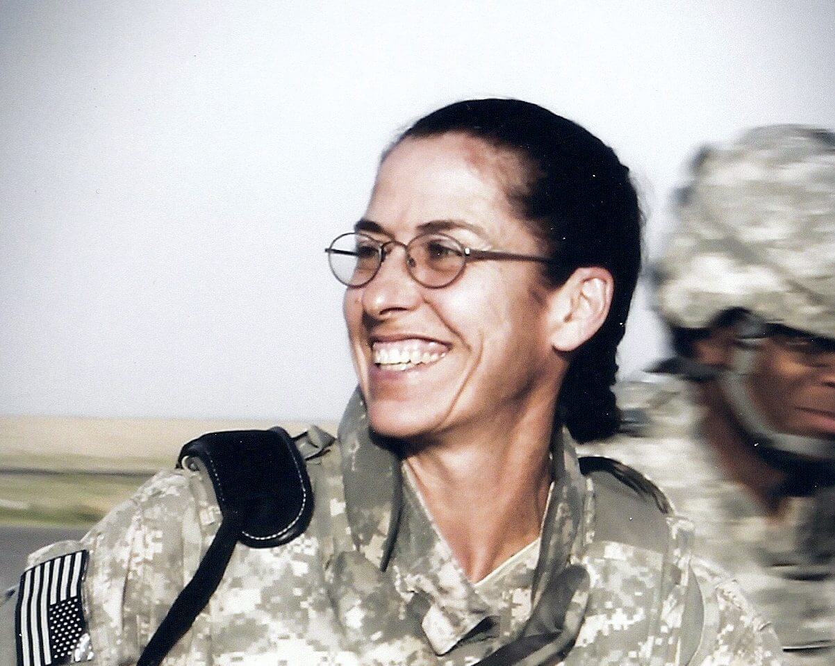 Patricia Darnauer on duty in the U.S. Army Medical Service Corps.